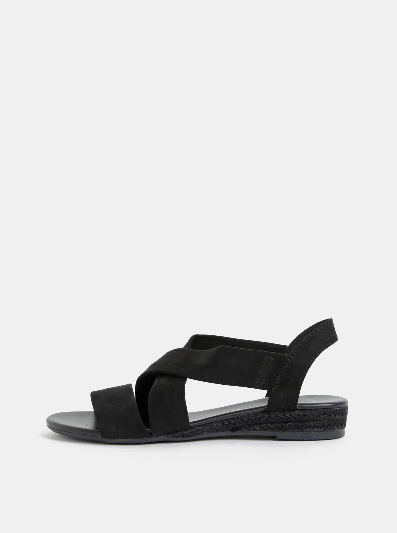 8d5e189c0c Černé sandály v semišové úpravě Dorothy Perkins
