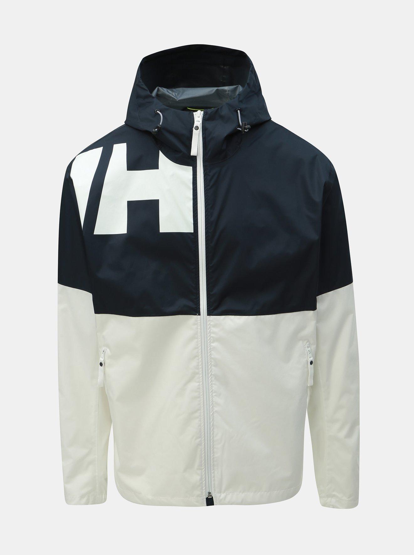 Modro-bílá pánská nepromokavá lehká bunda HELLY HANSEN