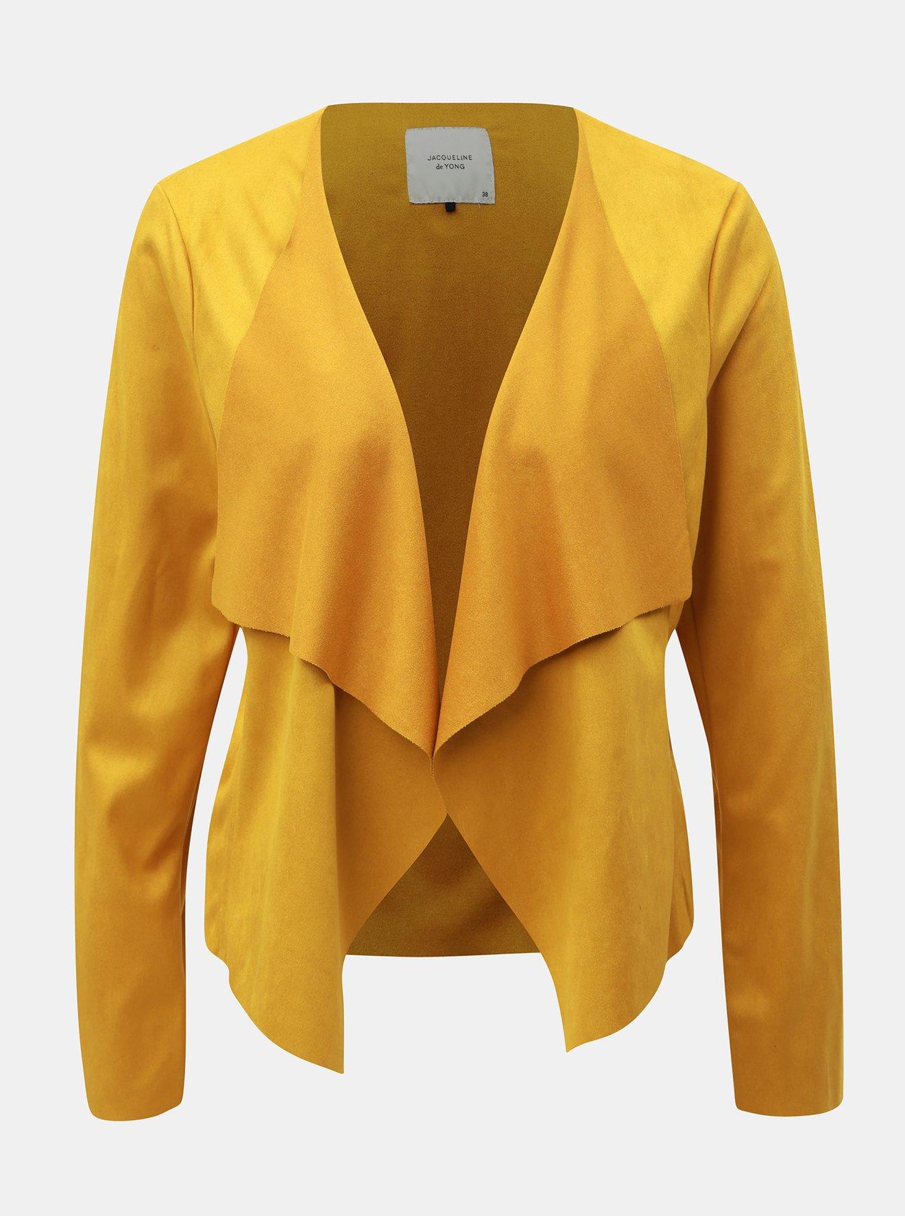Hořčicové sako v semišové úpravě Jacqueline de Yong Judy