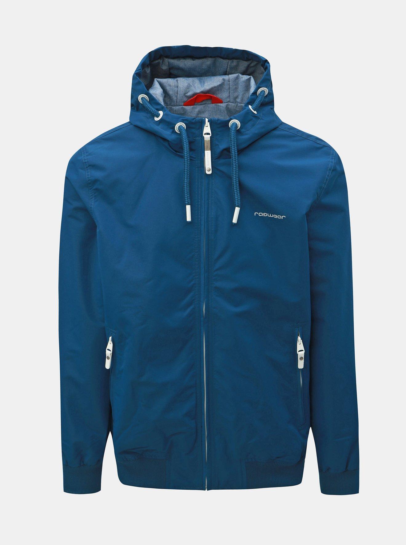 Modrá pánská voděodolná bunda Ragwear Percy