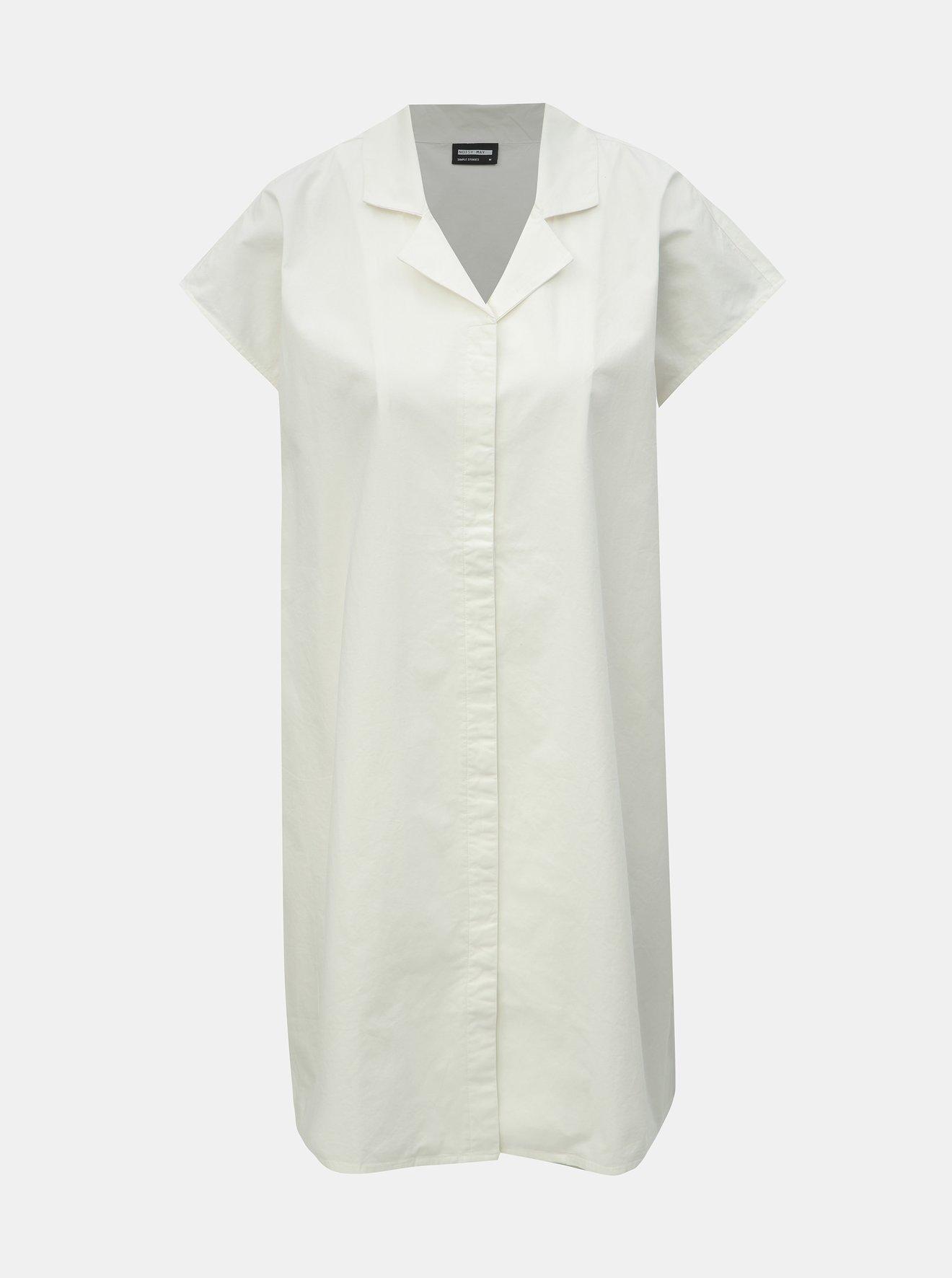 Krémové košilové šaty Noisy May
