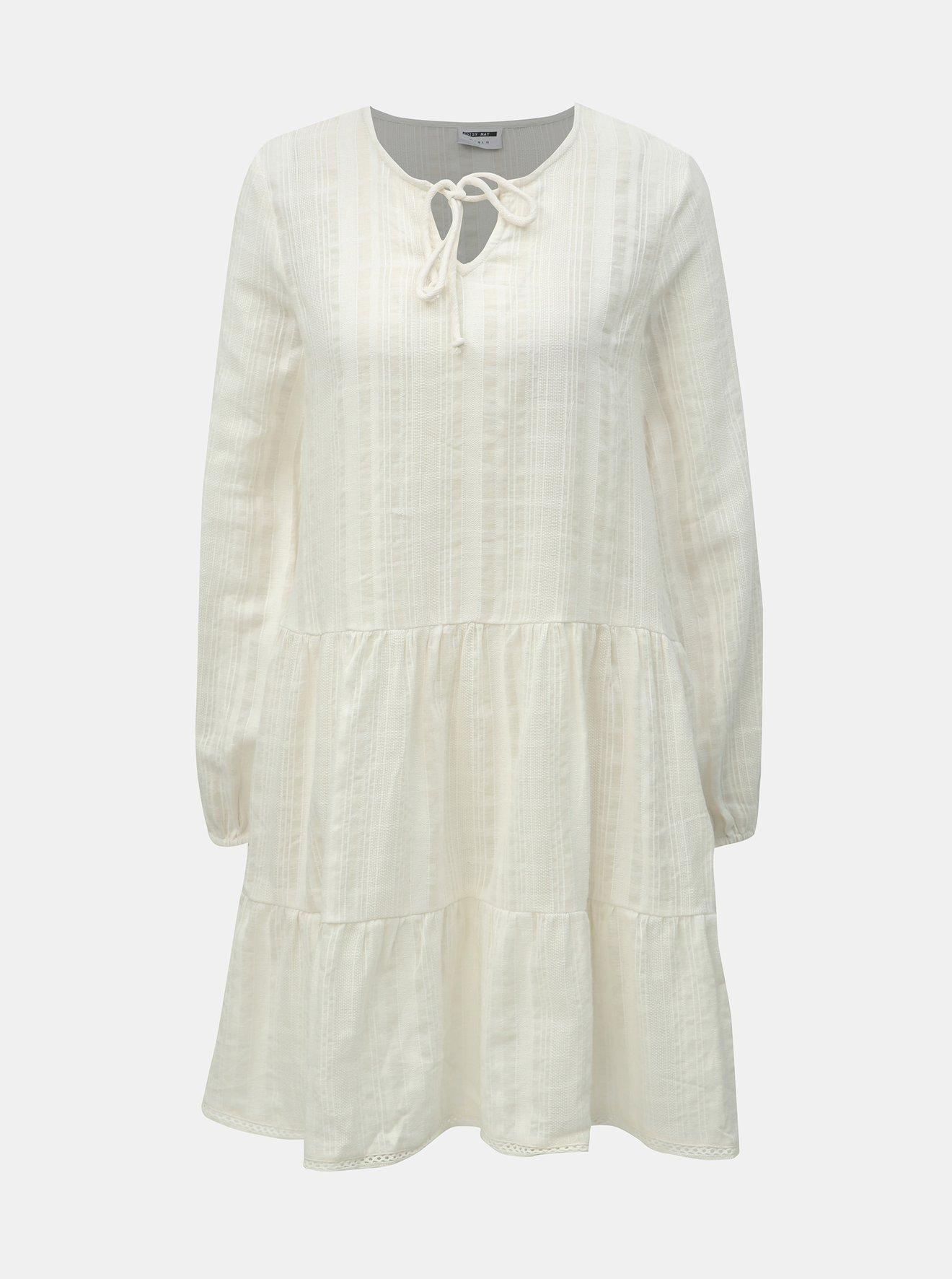 Krémové šaty Noisy May