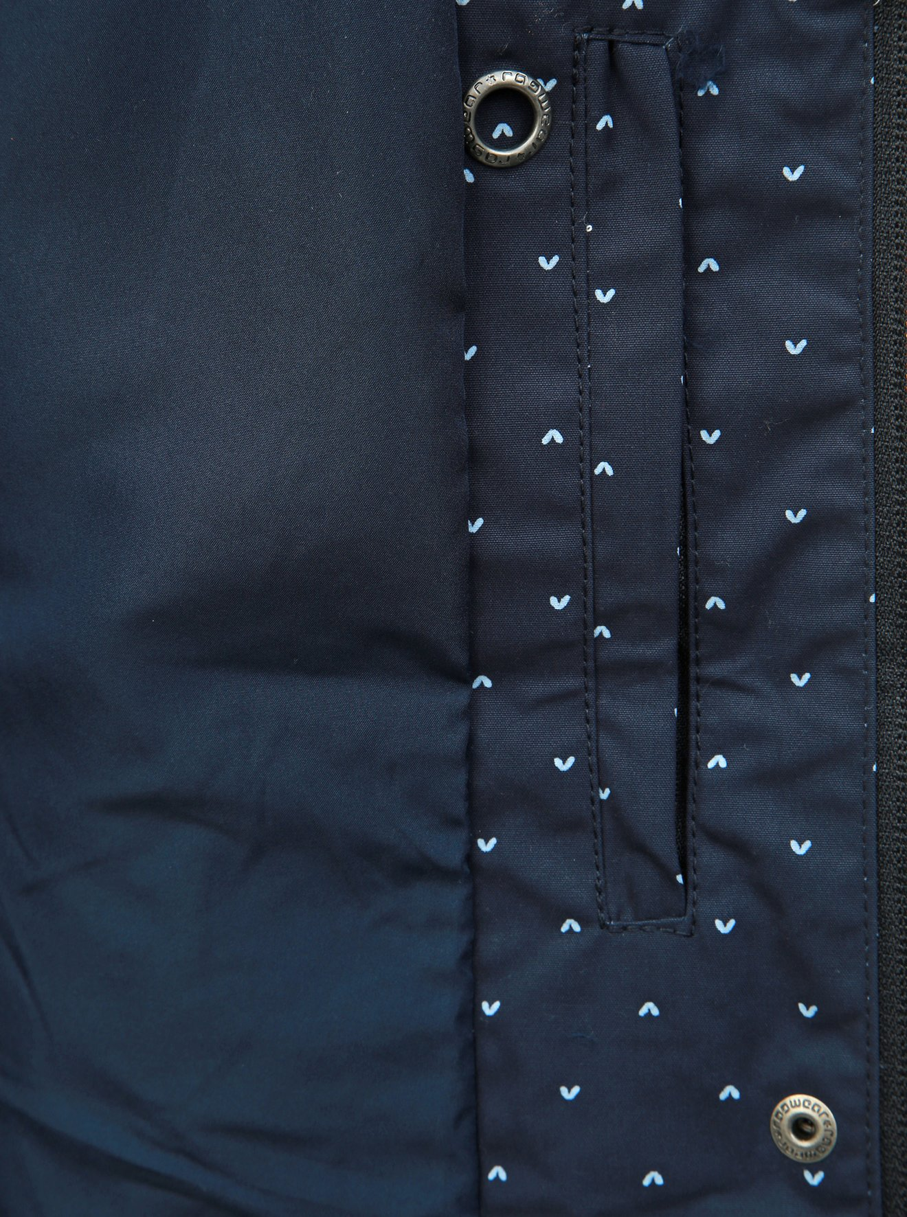 Tmavě modrá dámská vzorovaná bunda Ragwear Lynx