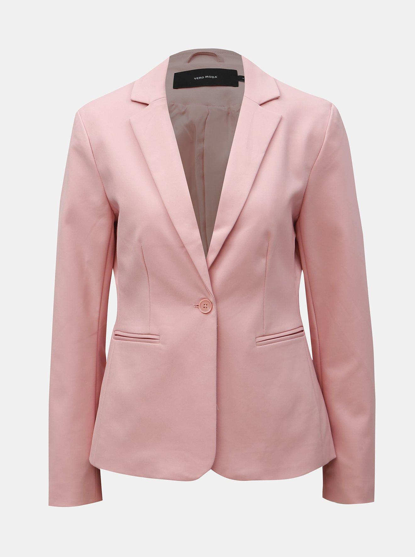 Světle růžové sako VERO MODA Victoria