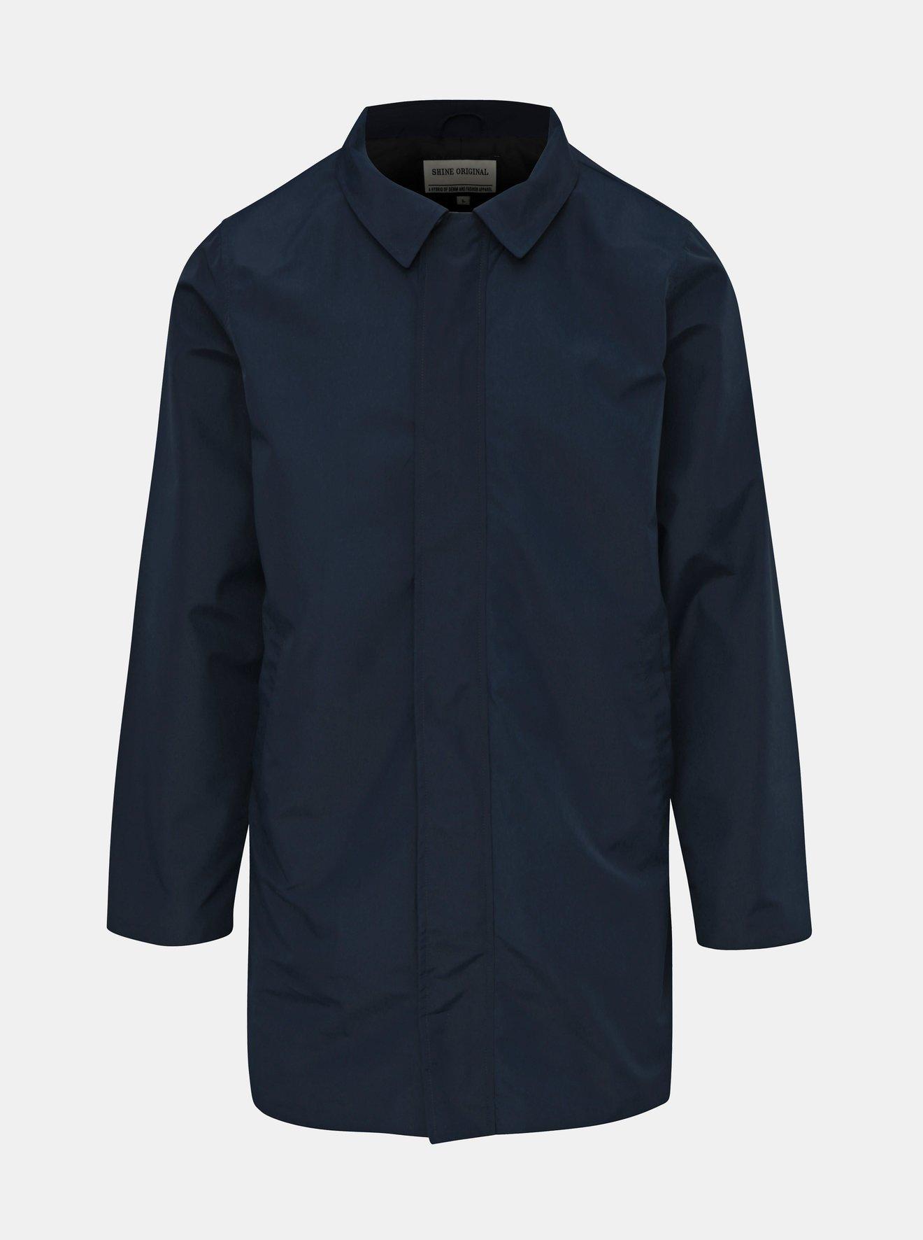 Tmavě modrý lehký kabát Shine Original