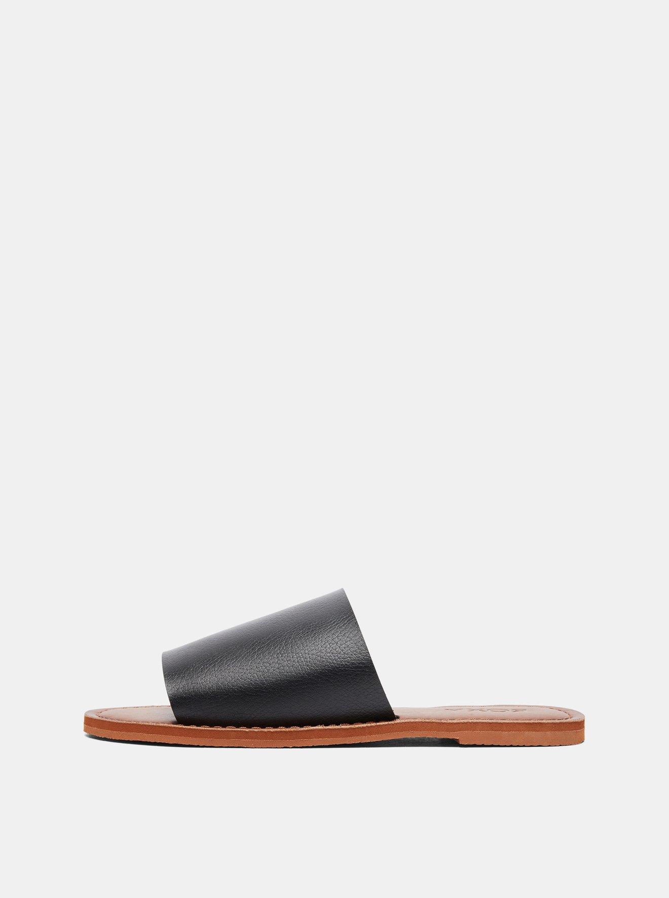 Černé pantofle Roxy Kaia