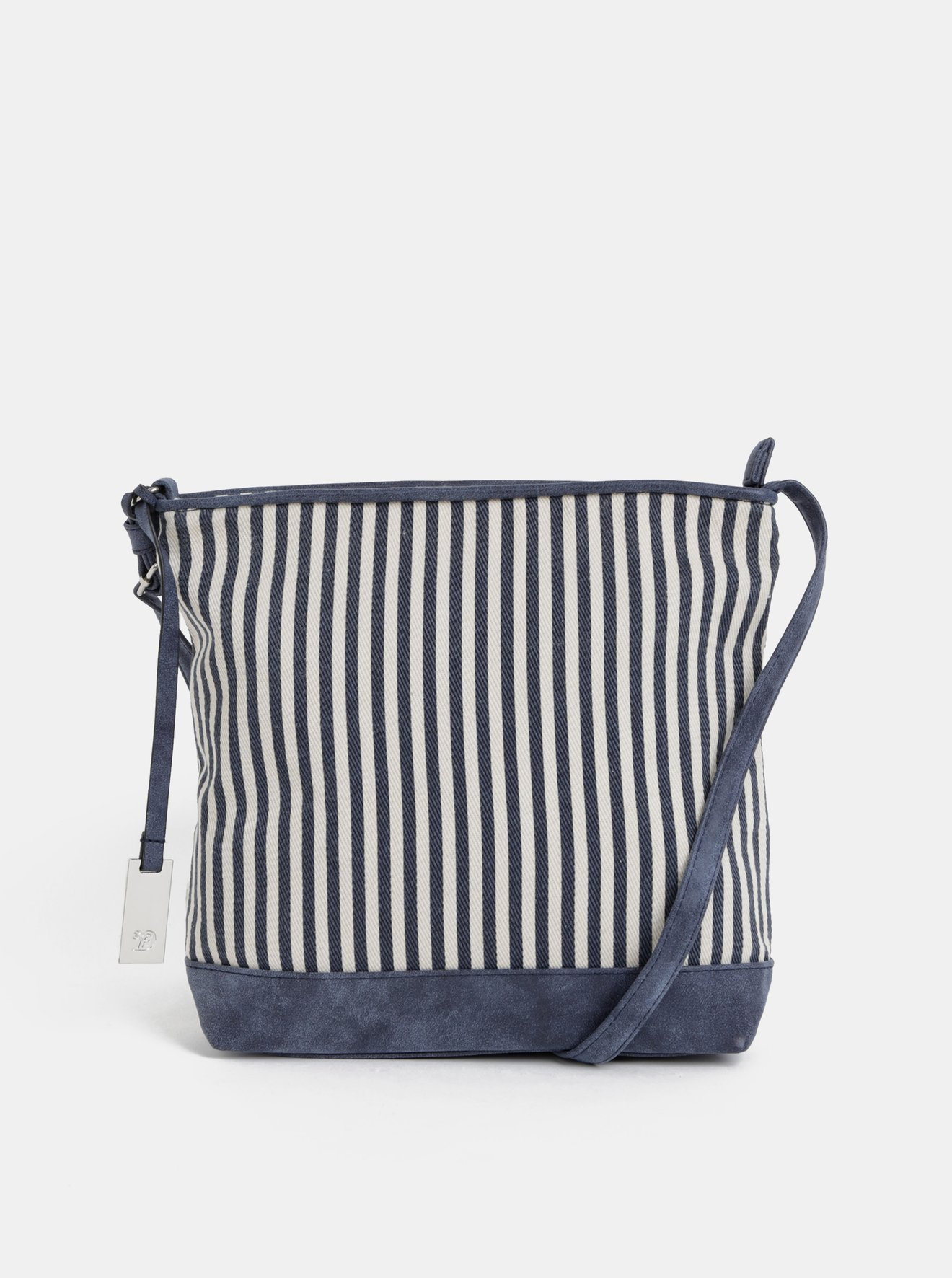 Krémovo-modrá pruhovaná crossbody kabelka Tom Tailor Denim Mila