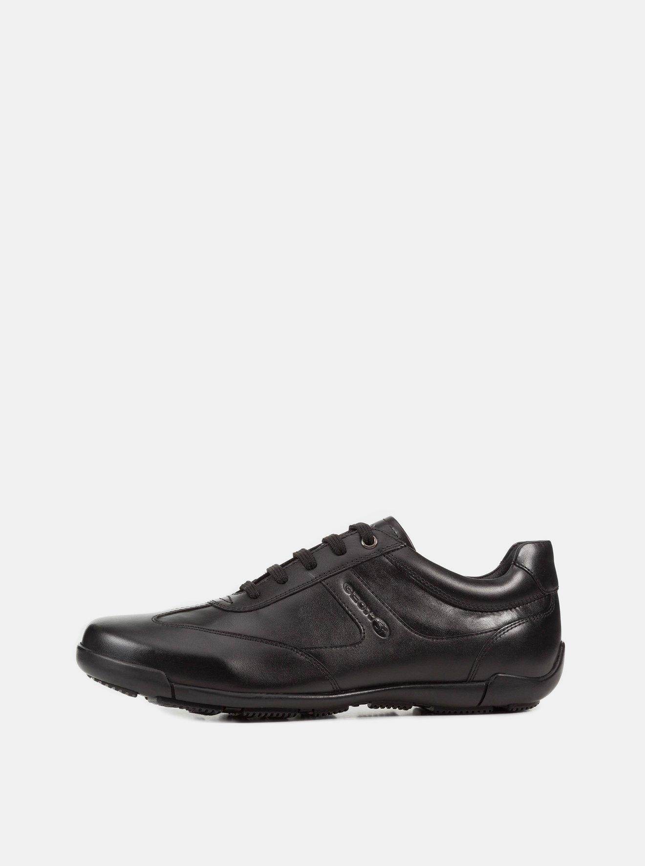 Černé pánské tenisky s koženými detaily Geox Edgware