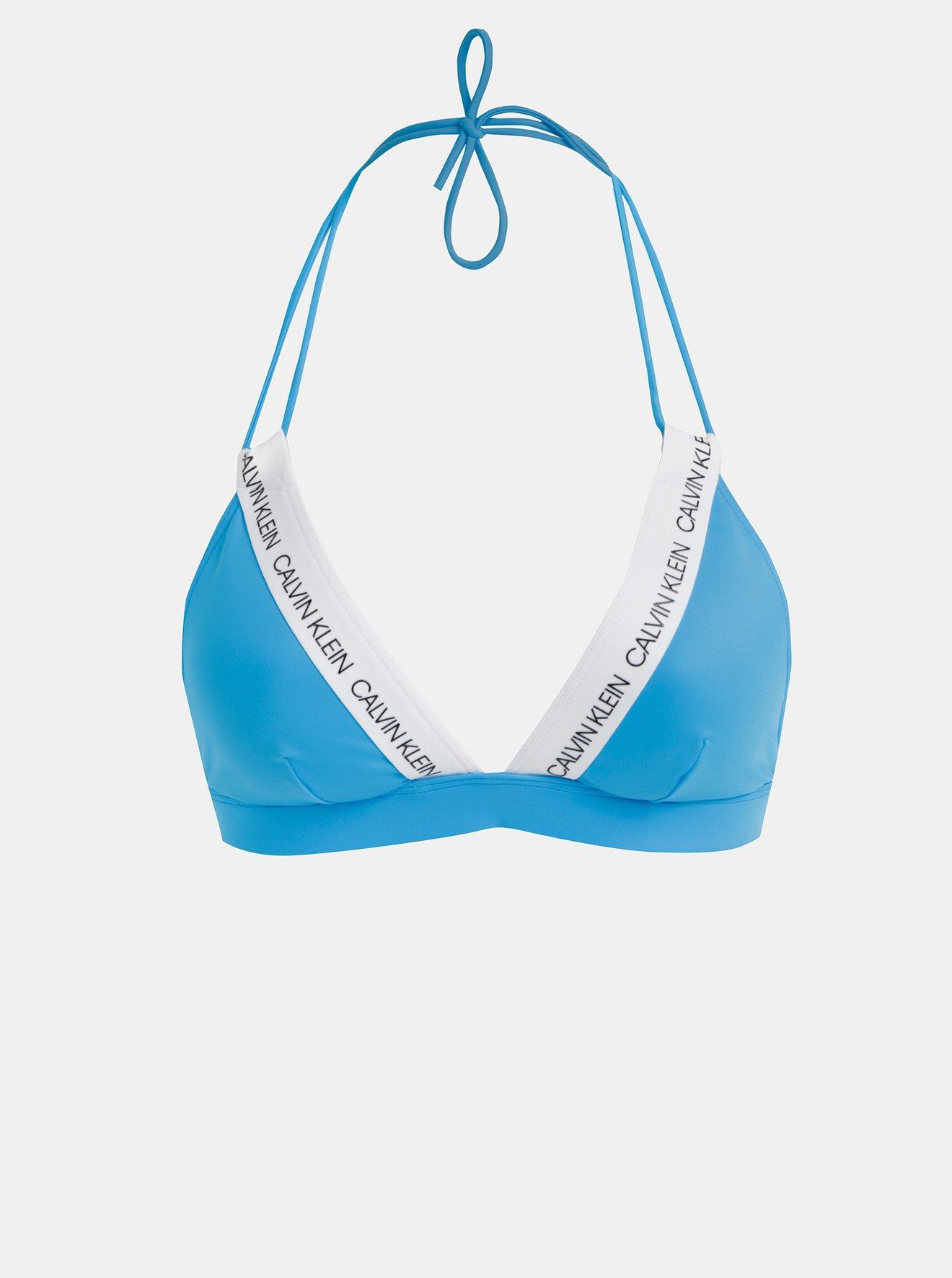 Modrý dámský horní díl plavek Calvin Klein Underwear
