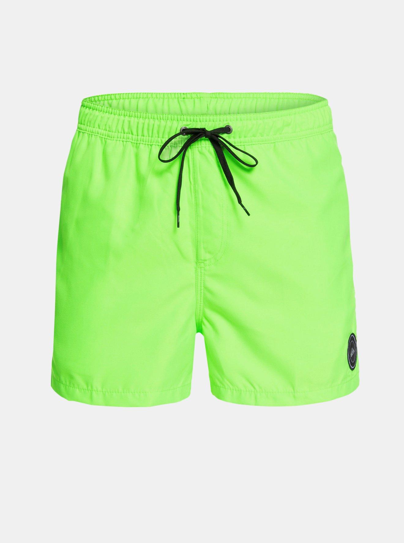 Neonově zelené plavky s nášivkou Quiksilver Every Day