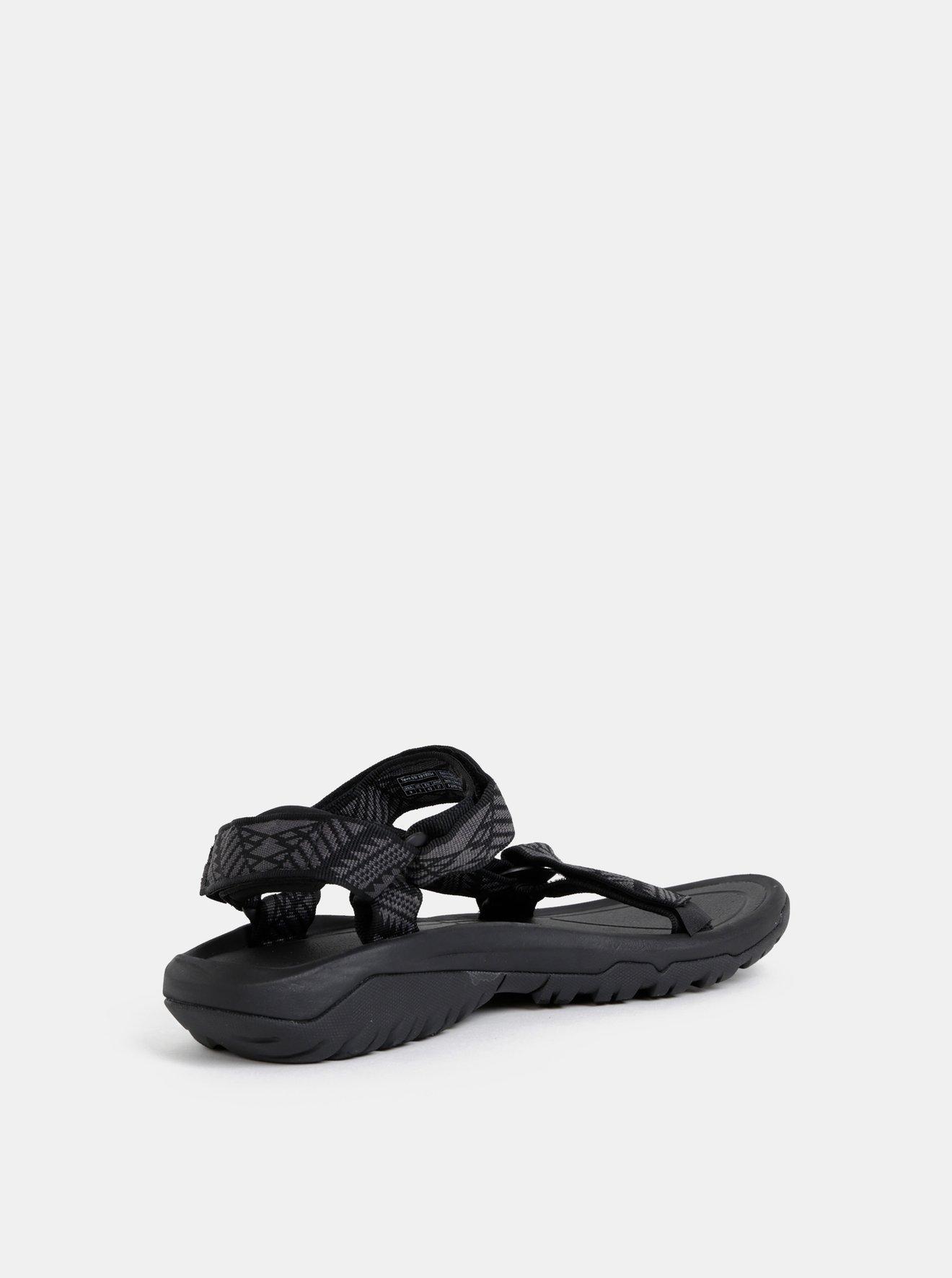 Černé pánské vzorované sandály Teva
