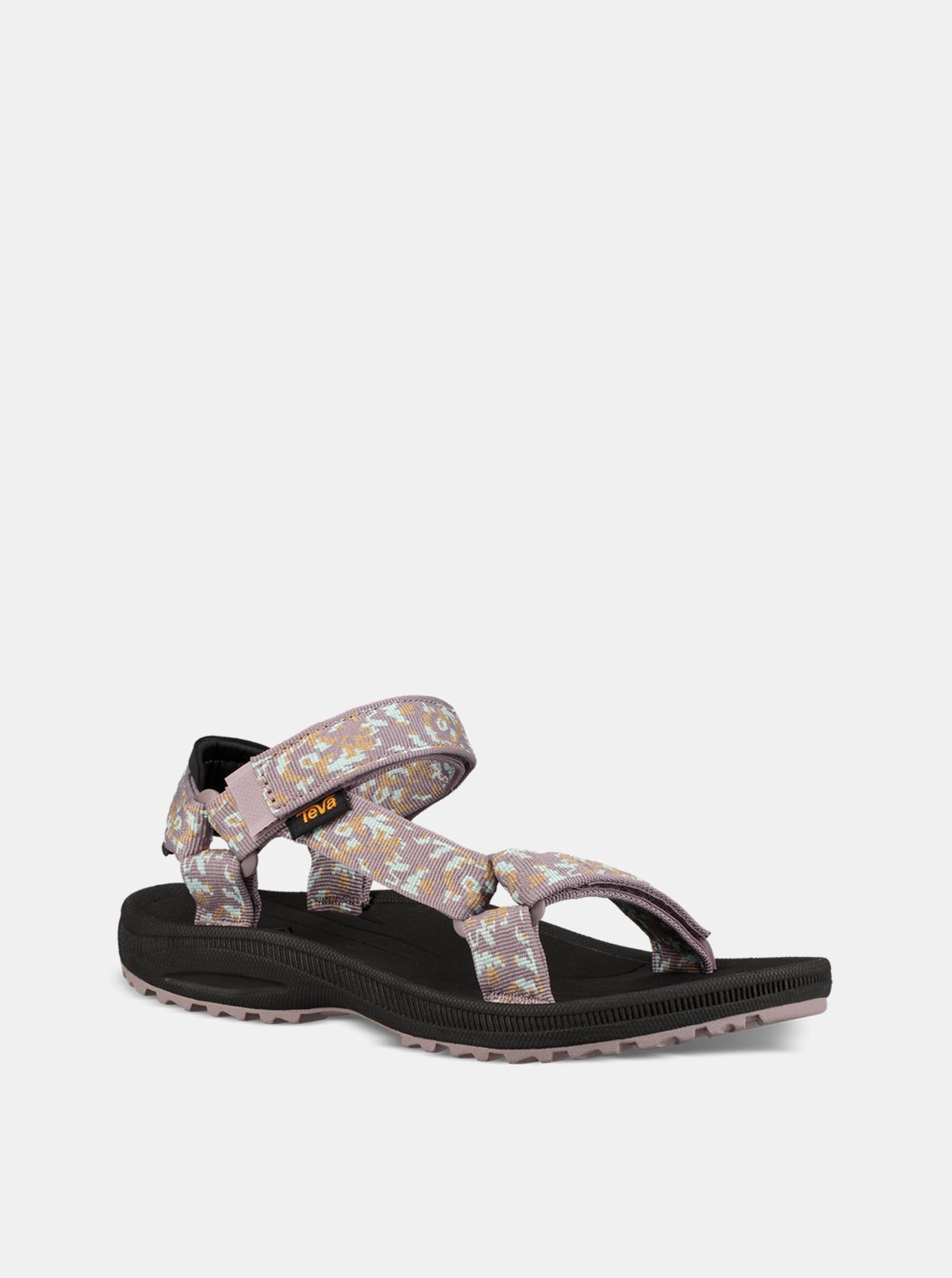 Fialové dámské vzorované sandály Teva