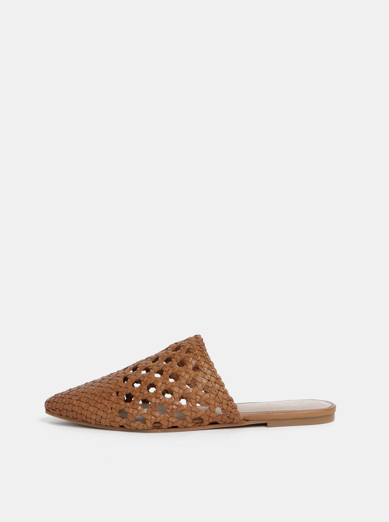 Hnědé dámské kožené pantofle ALDO Rylyan