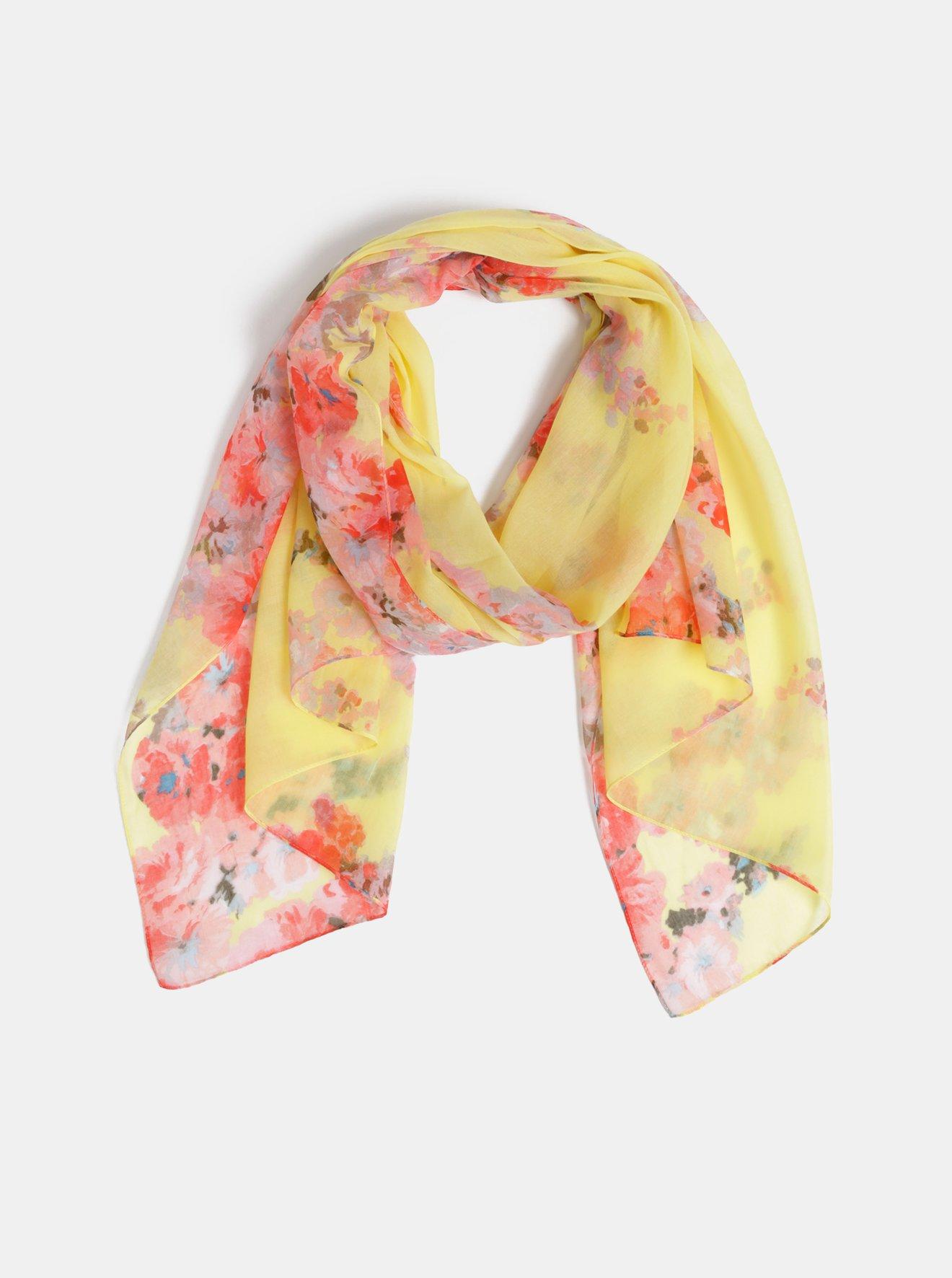 Žlutý dámský květovaný šátek Tom Joule Wensley
