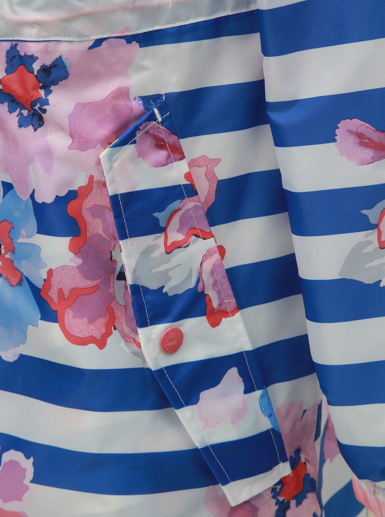 Bilo-modrá vzorovaná nepromokavá lehká parka Tom Joule Golightly