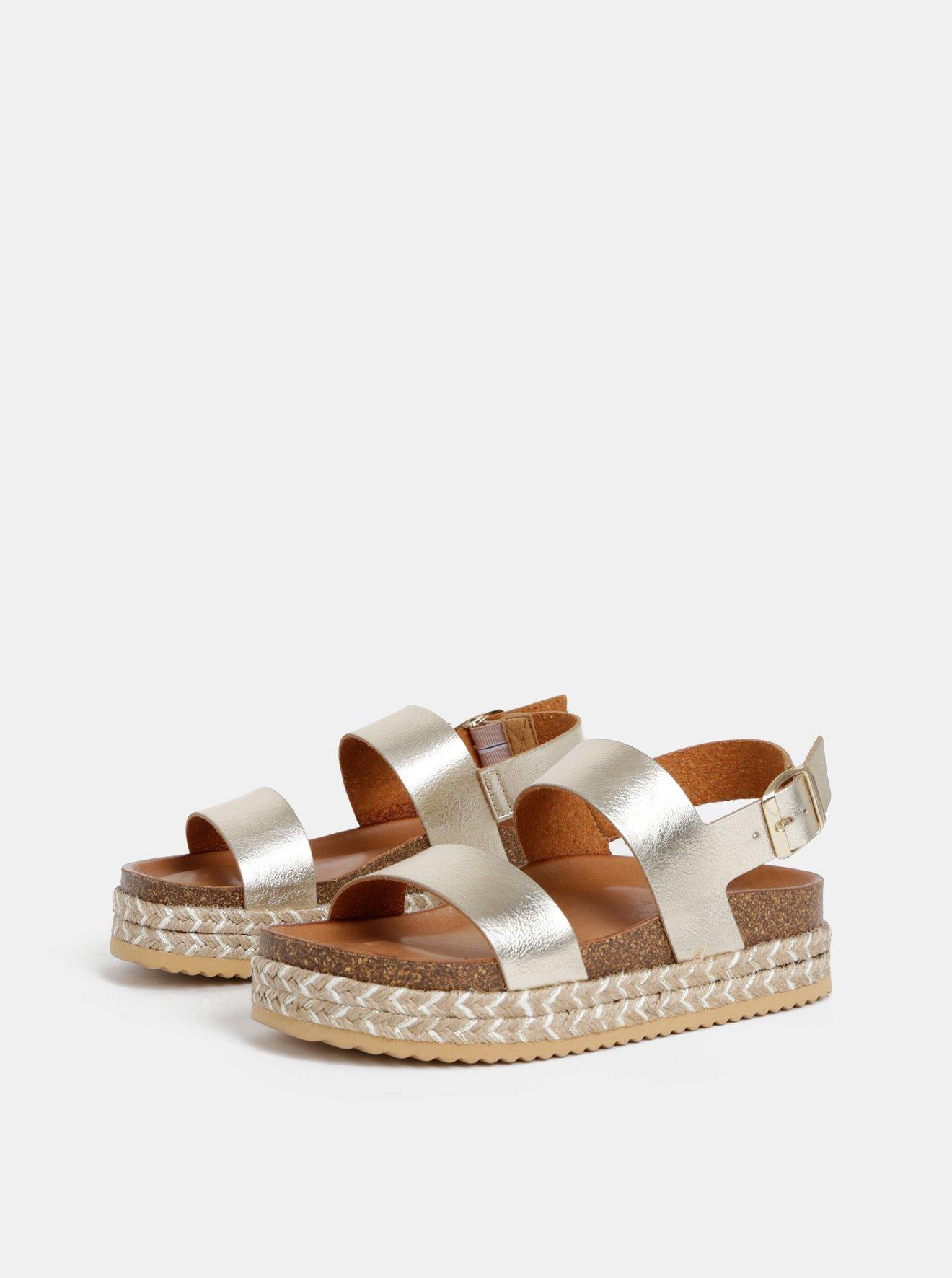 Dámské kožené sandály ve zlaté barvě ALDO Ruryan