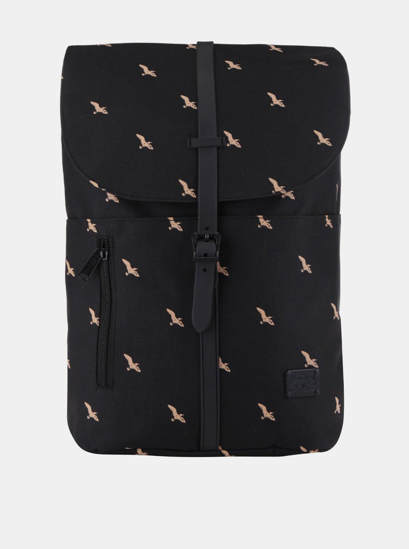Černý dámský batoh s potiskem Spiral Tribeca 14 l