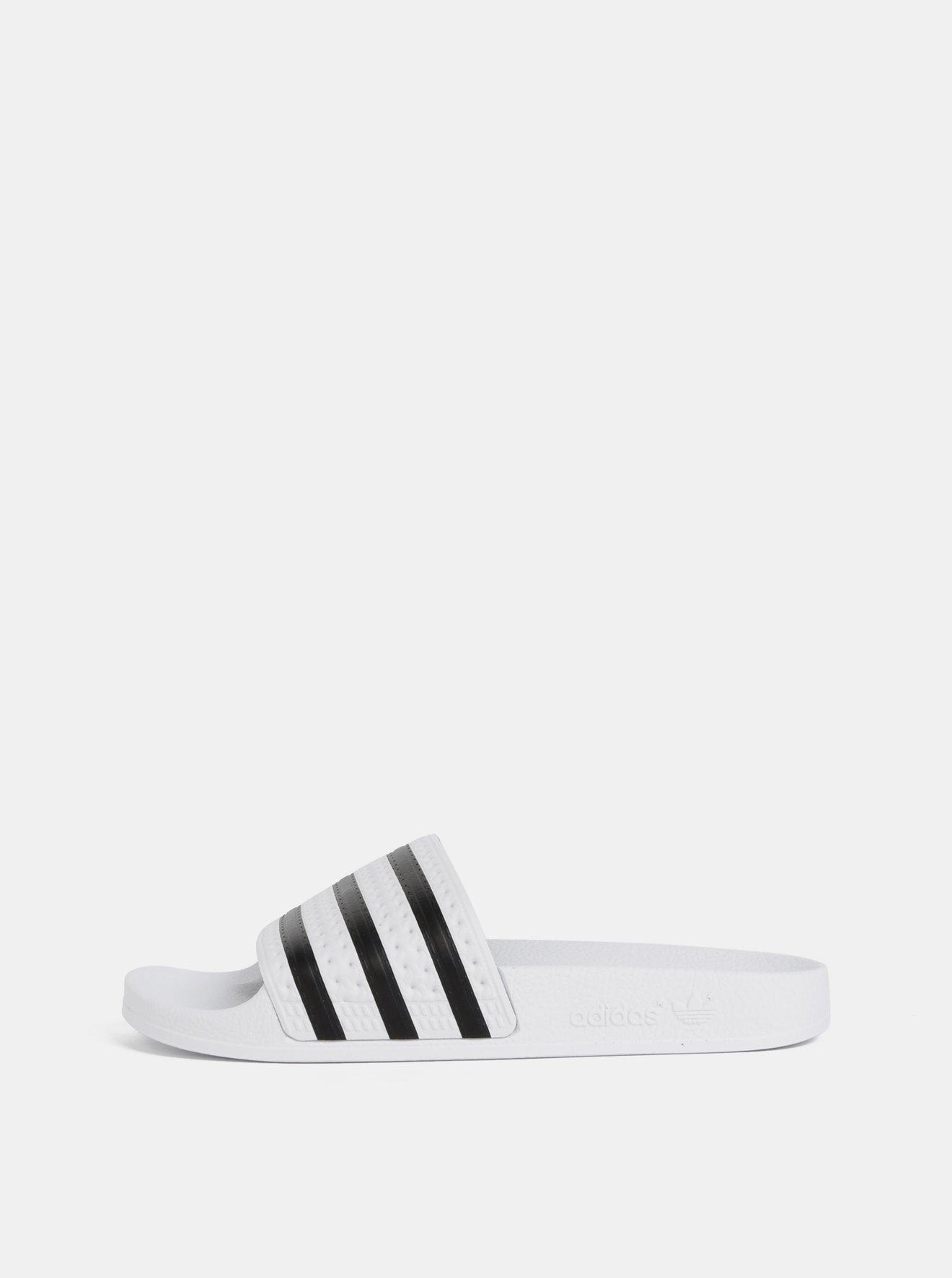 Bílé pantofle adidas Originals Adilette