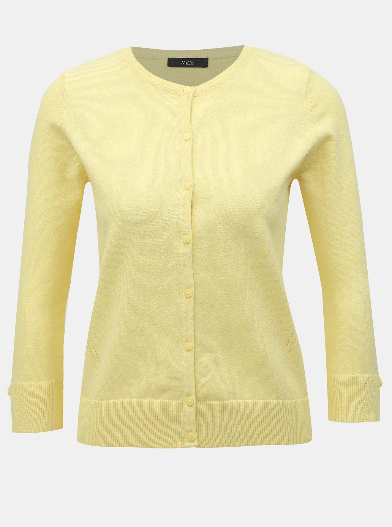 Žlutý kardigan M&Co