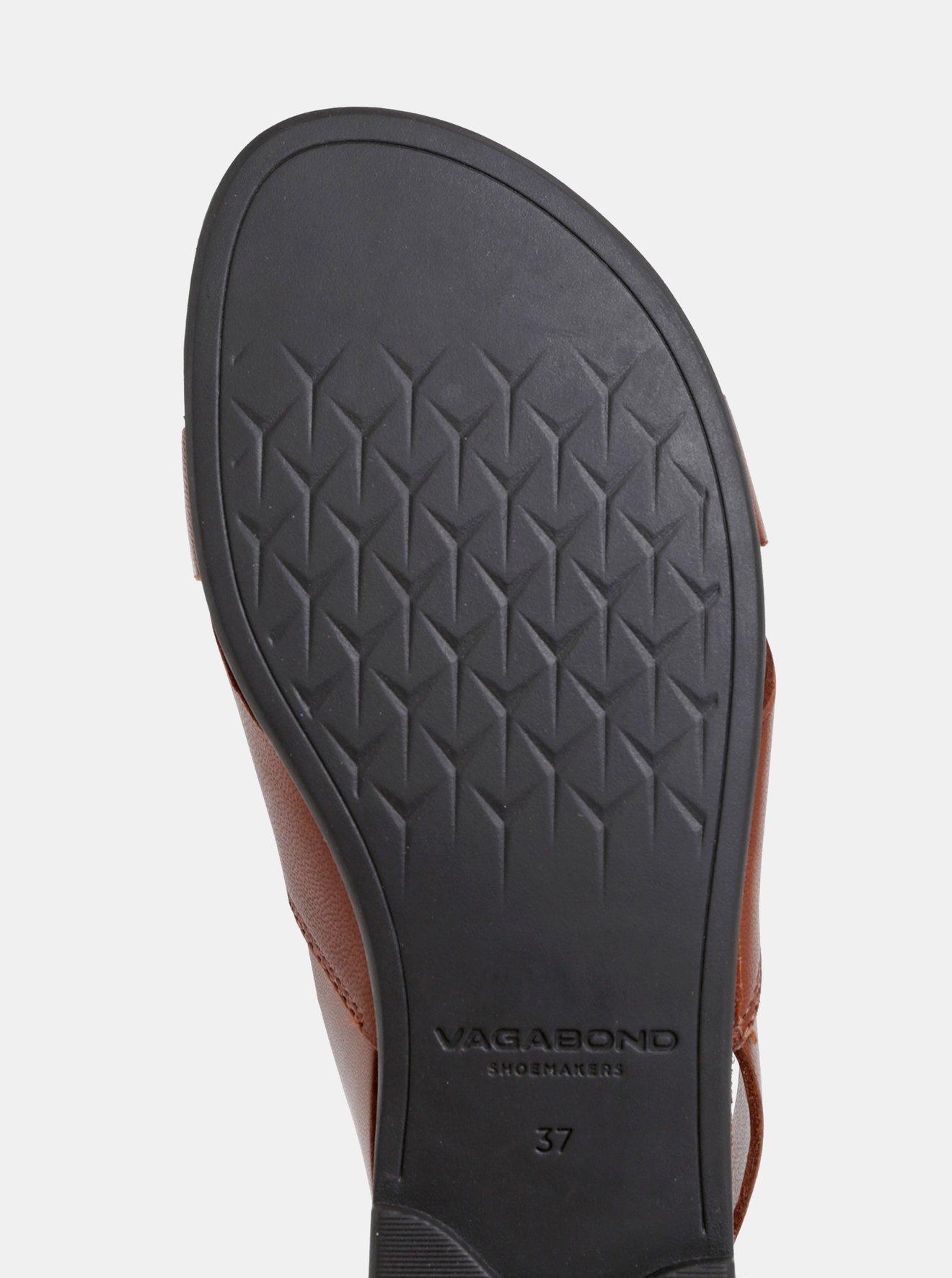 Hnědé dámské kožené sandály Vagabond Tia