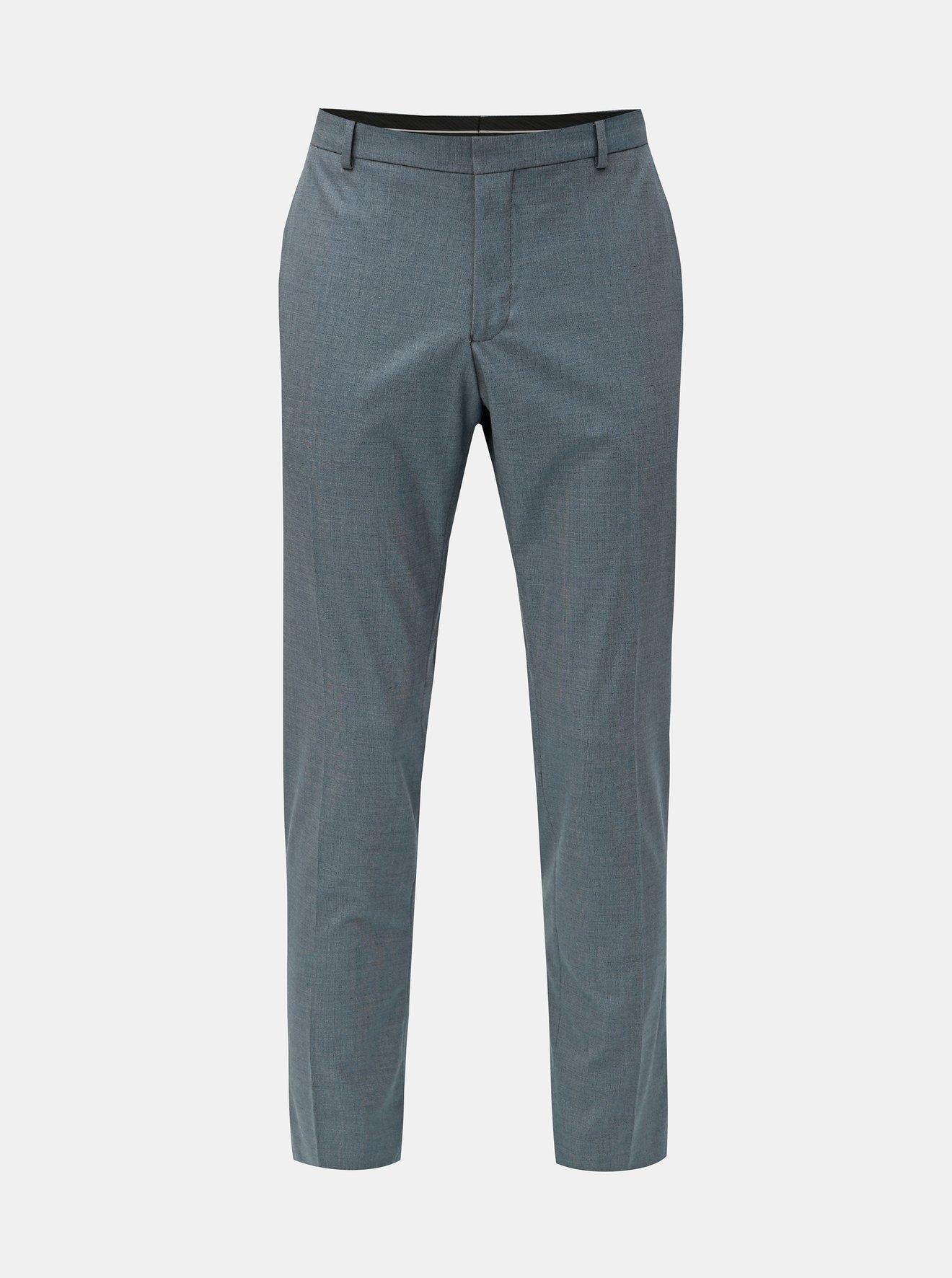 Modré oblekové slim fit kalhoty Selected Homme Freesum