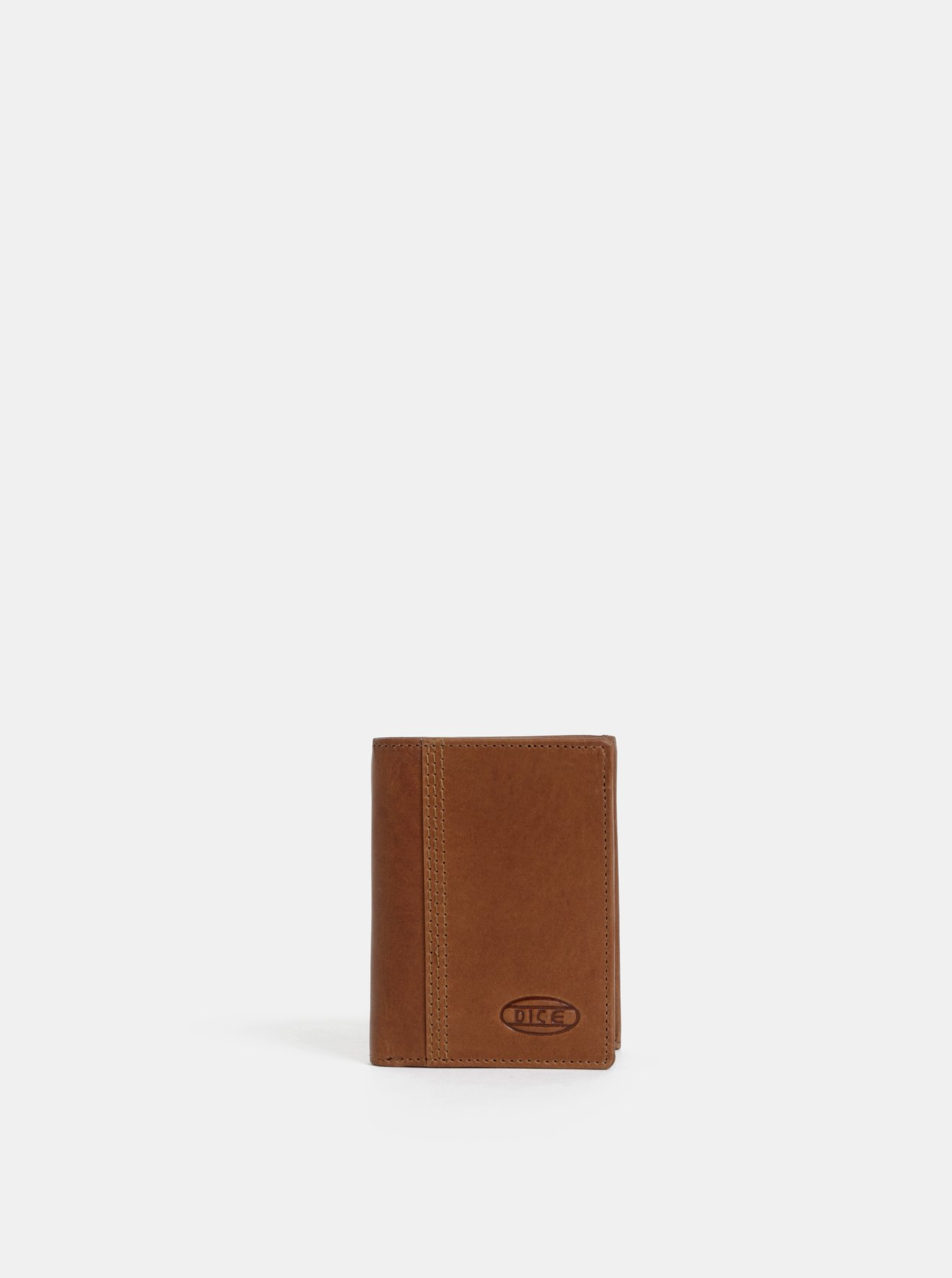 Hnědá pánská kožená peněženka Dice Byron