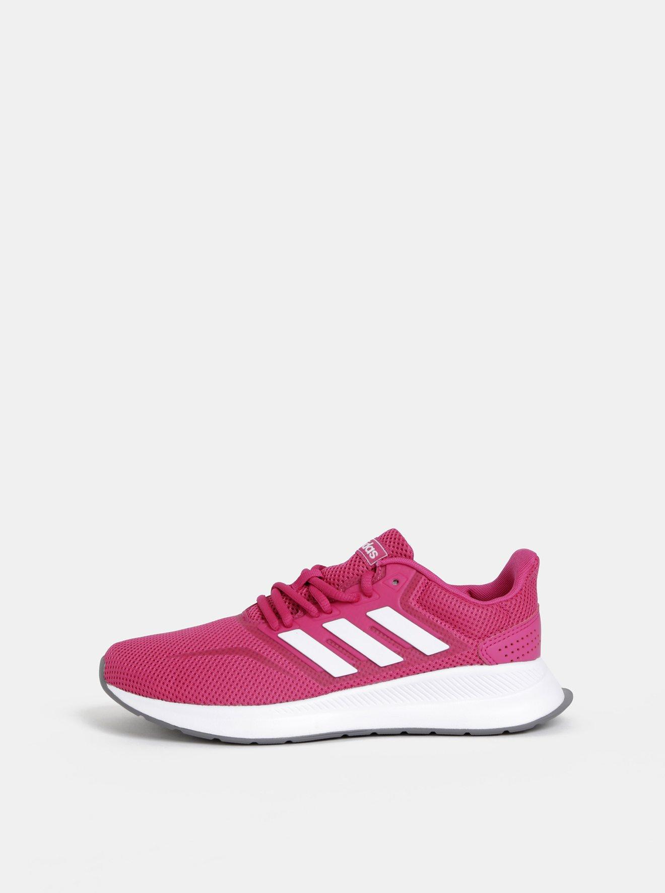 Tmavě růžové dámské tenisky adidas CORE Funfalcon