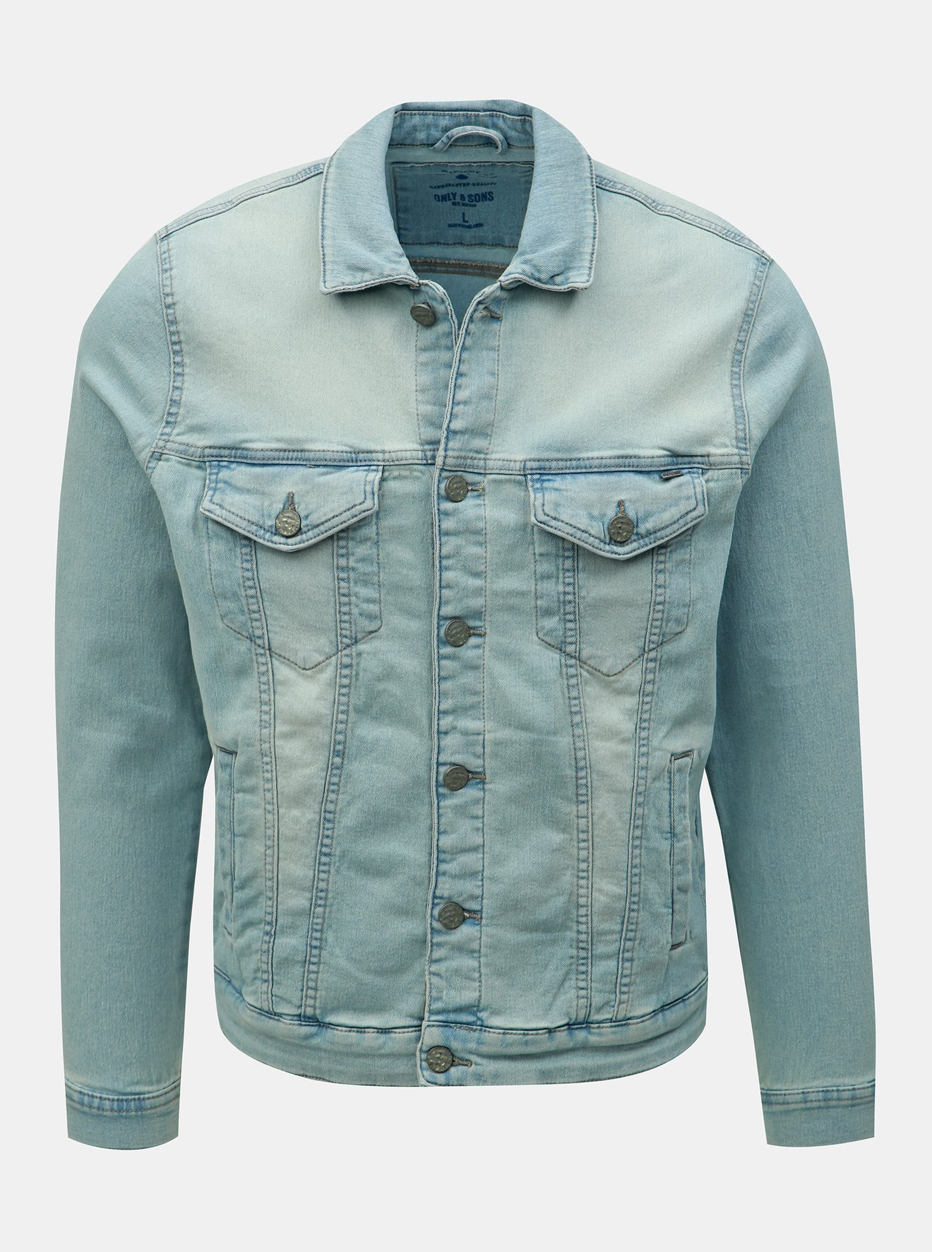 Modrá džínová bunda ONLY & SONS Coin Trucker