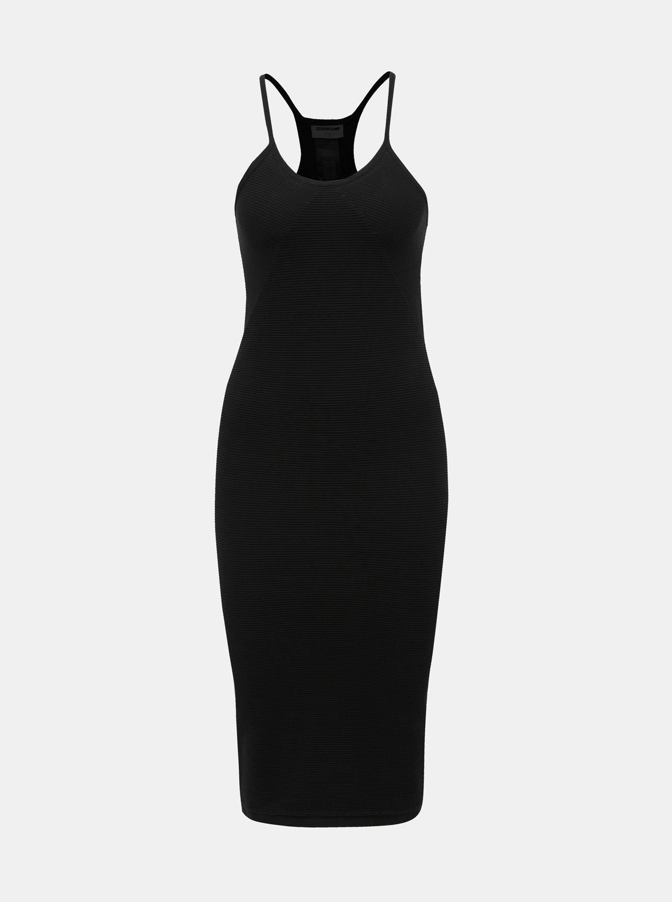 Černé žebrované šaty Noisy May Smilla