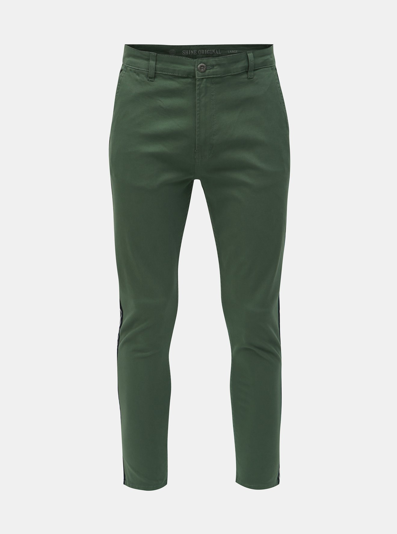 Zelené chino kalhoty Shine Original