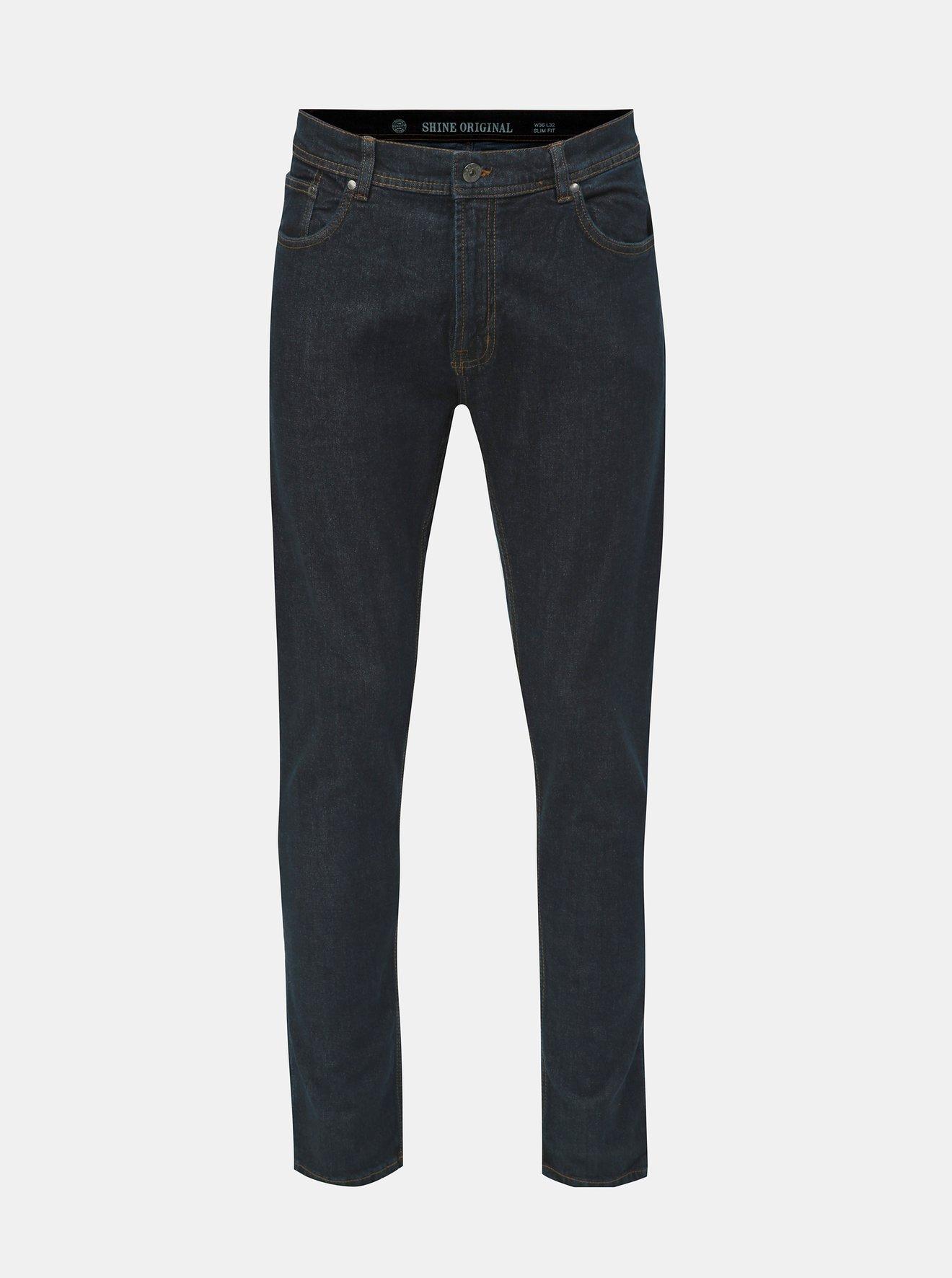 Tmavě modré slim fit džíny Shine Original