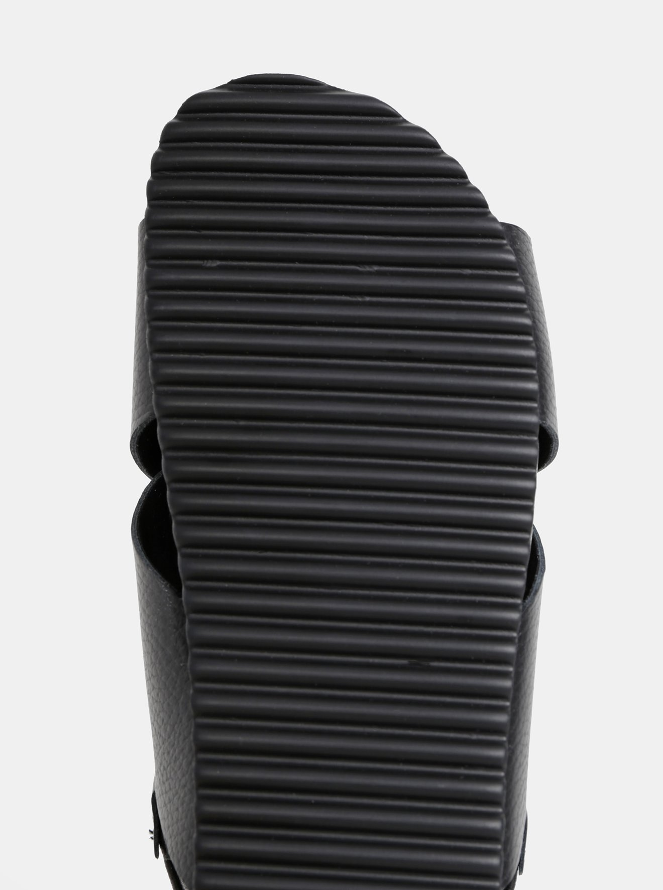 Černé kožené sandály Selected Femme Elf