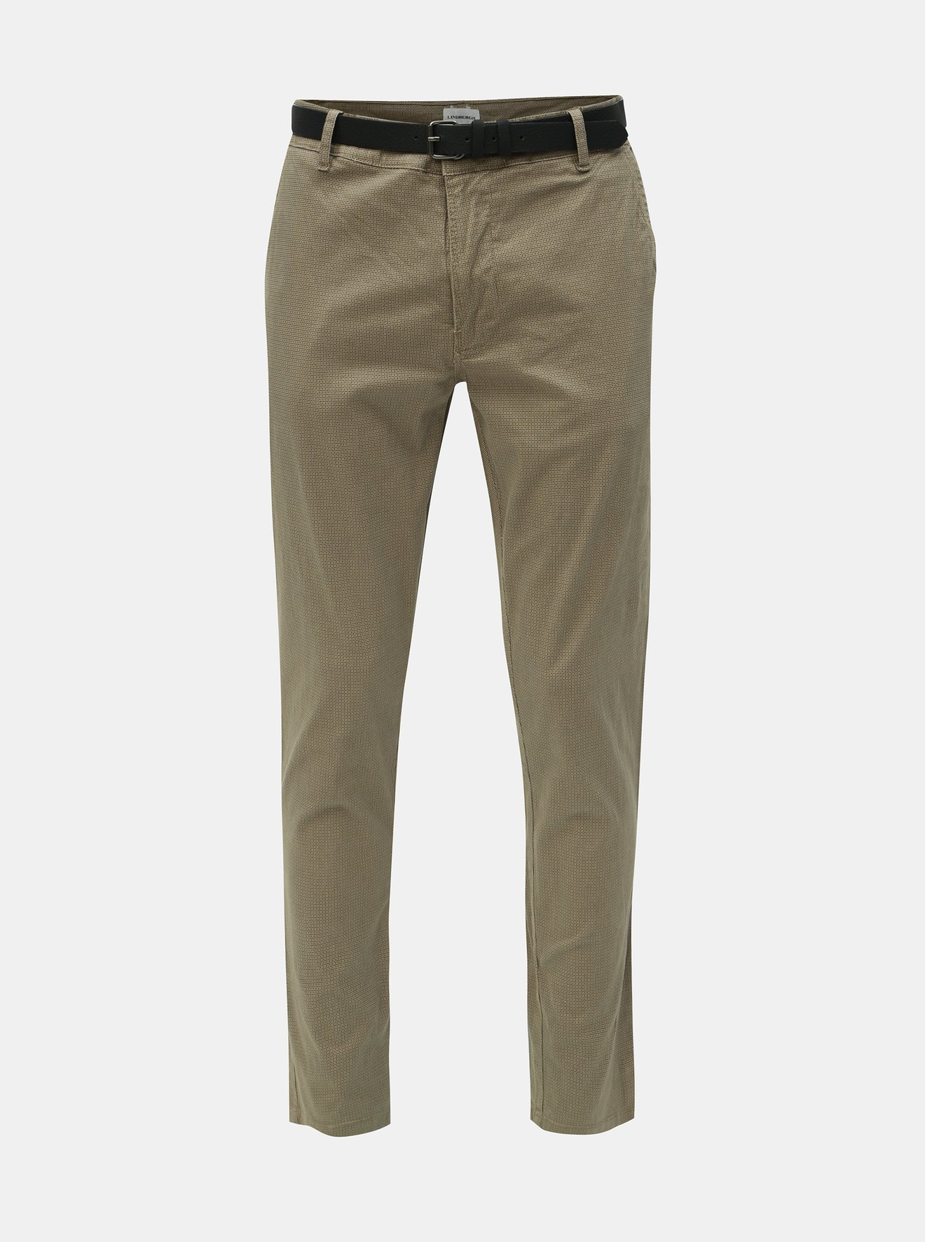 Béžové chino kalhoty s páskem Lindbergh