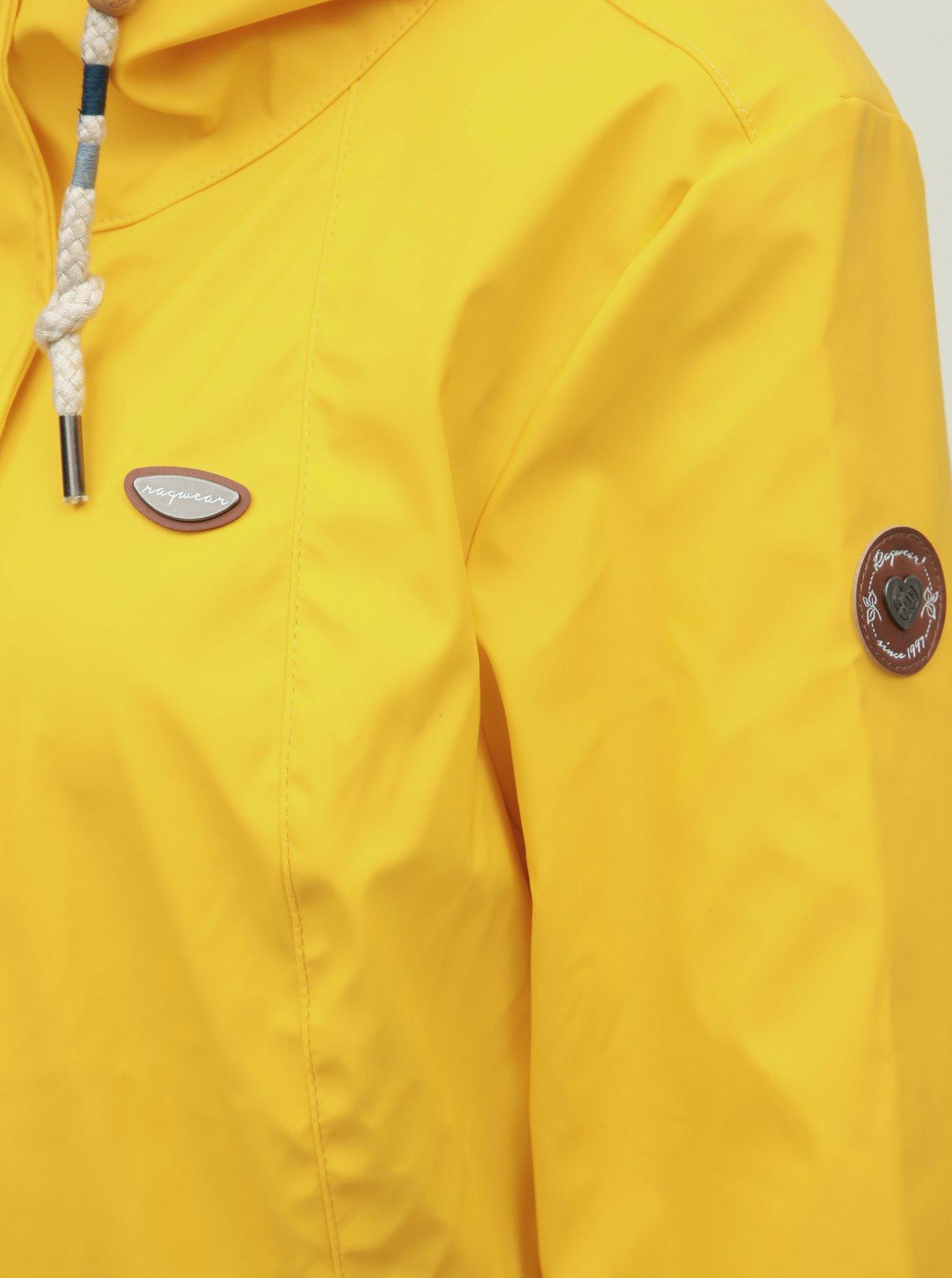 Žlutá dámská nepromokavá lehká parka Ragwear Monadis Rainy
