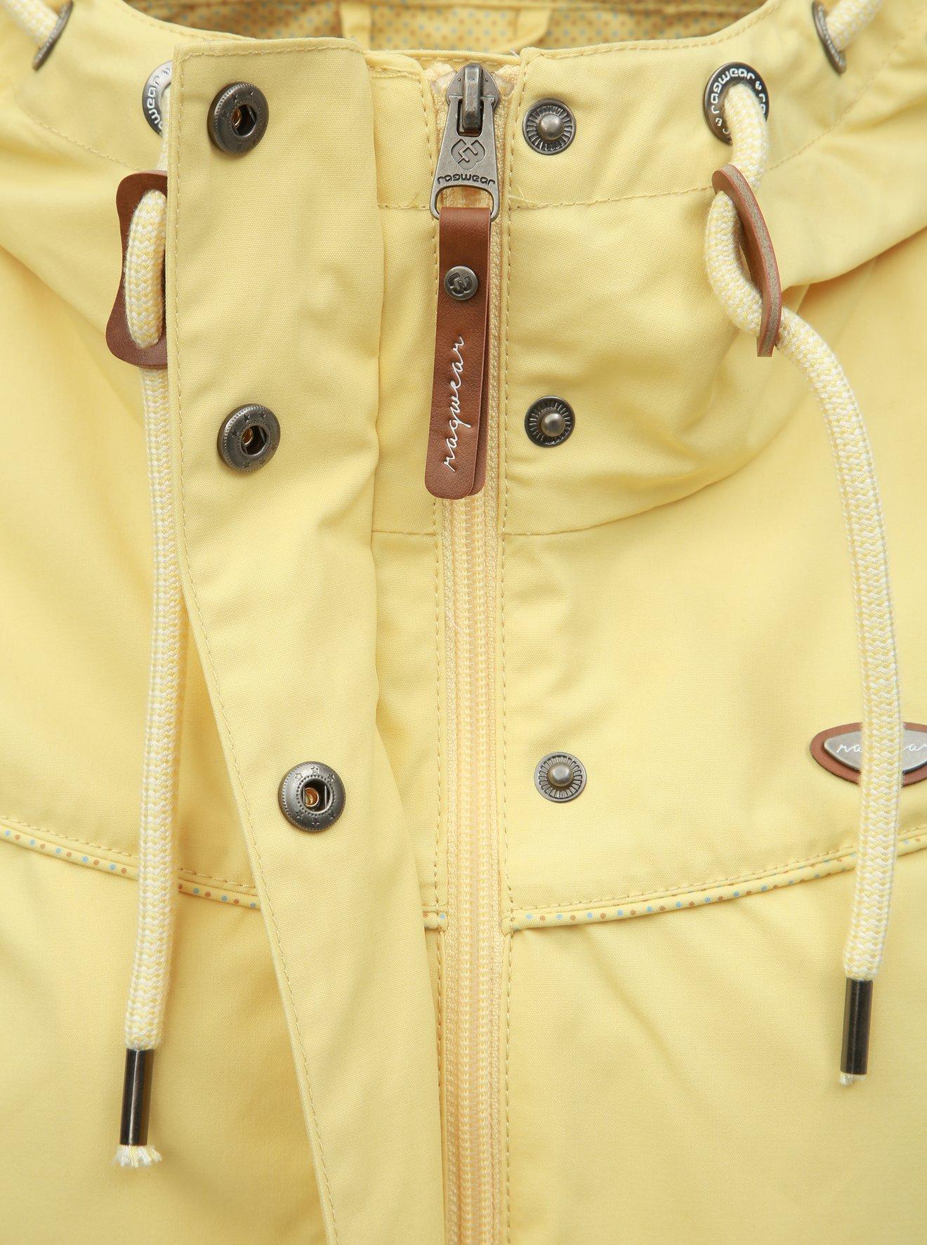 Světle žlutá dámská lehká parka Ragwear Canny