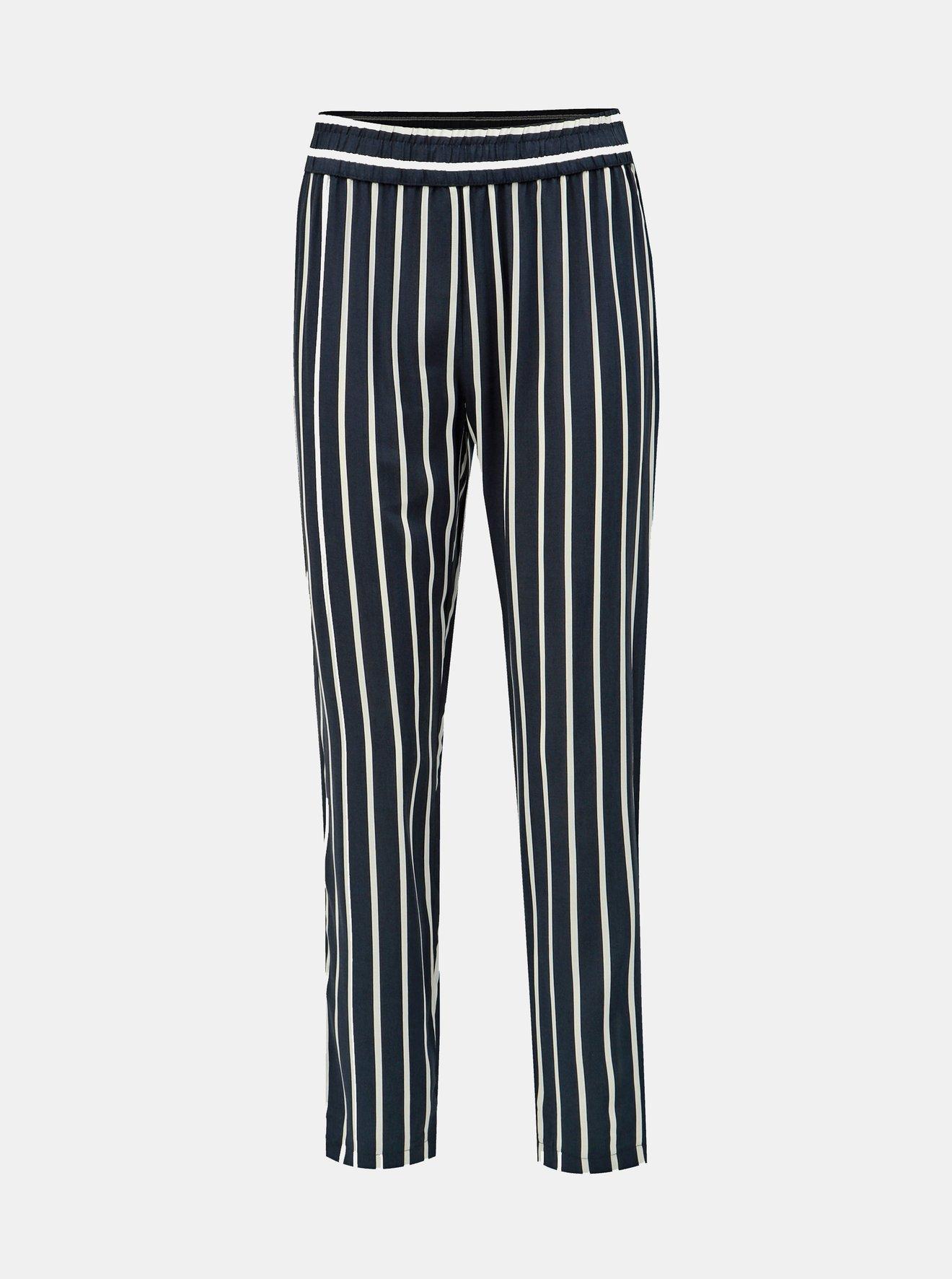 Tmavě modré pruhované kalhoty Jacqueline de Yong Star