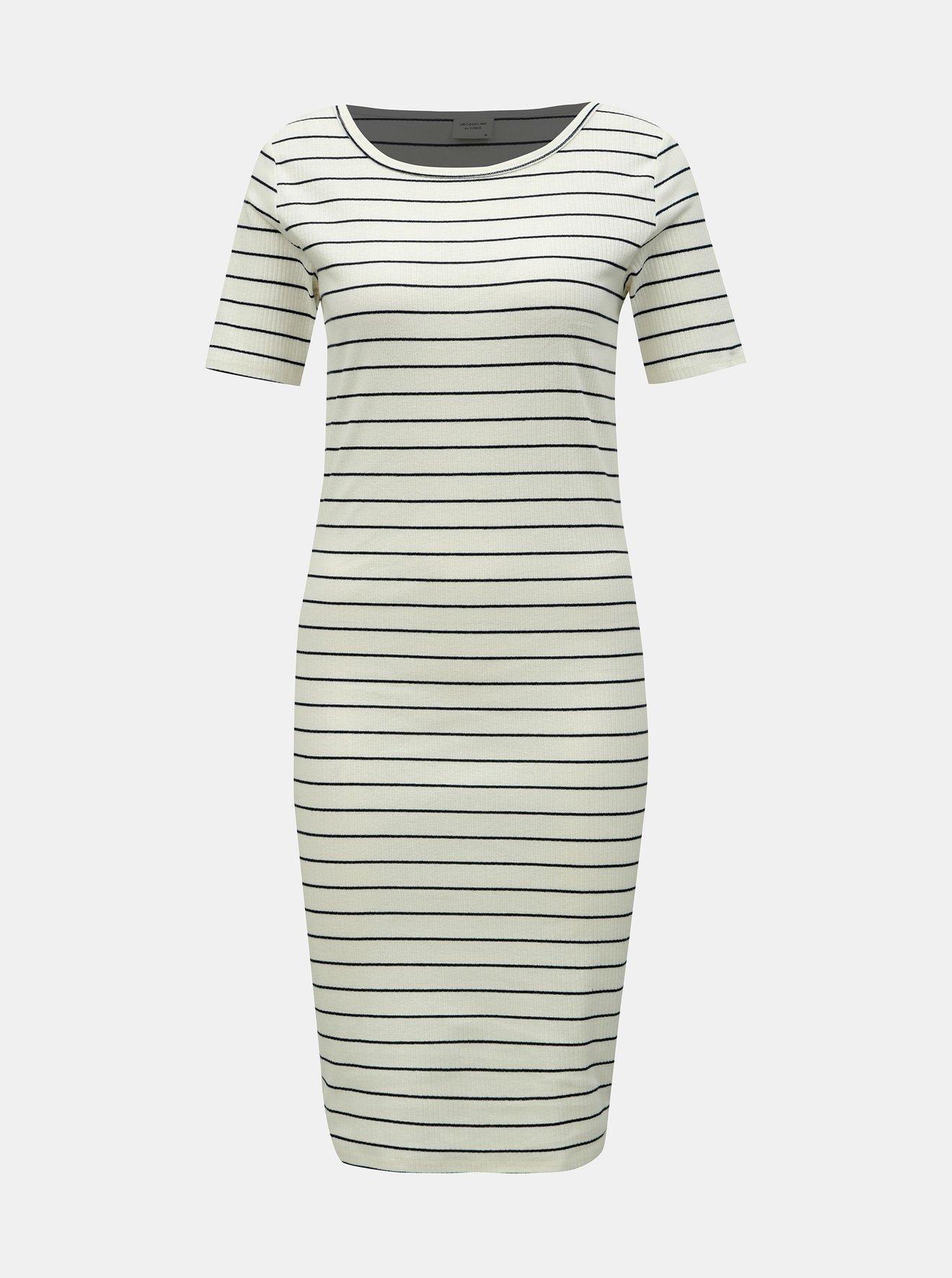 Bílé pruhované šaty Jacqueline de Yong Nevada