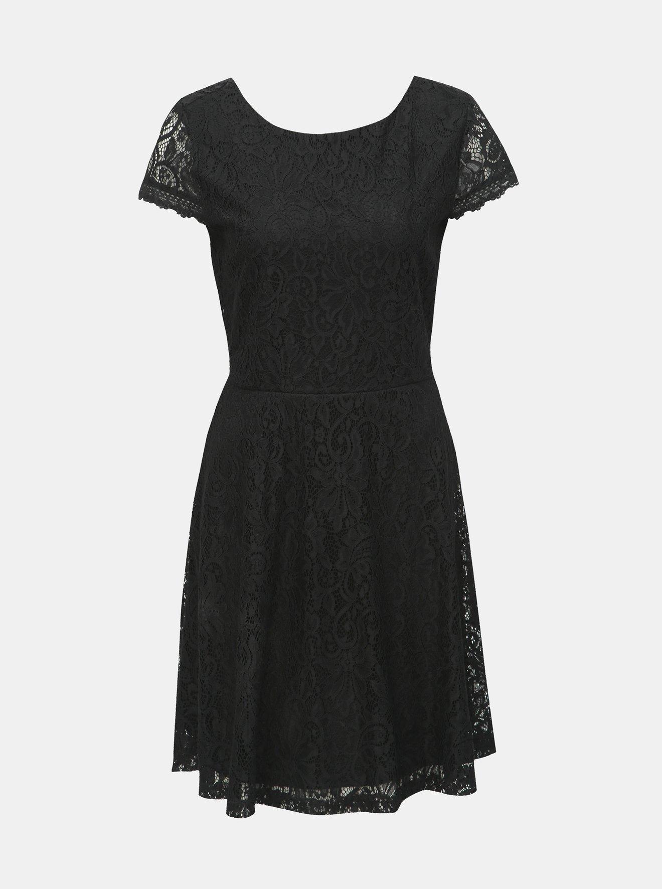 Černé krajkové šaty VERO MODA Sassa