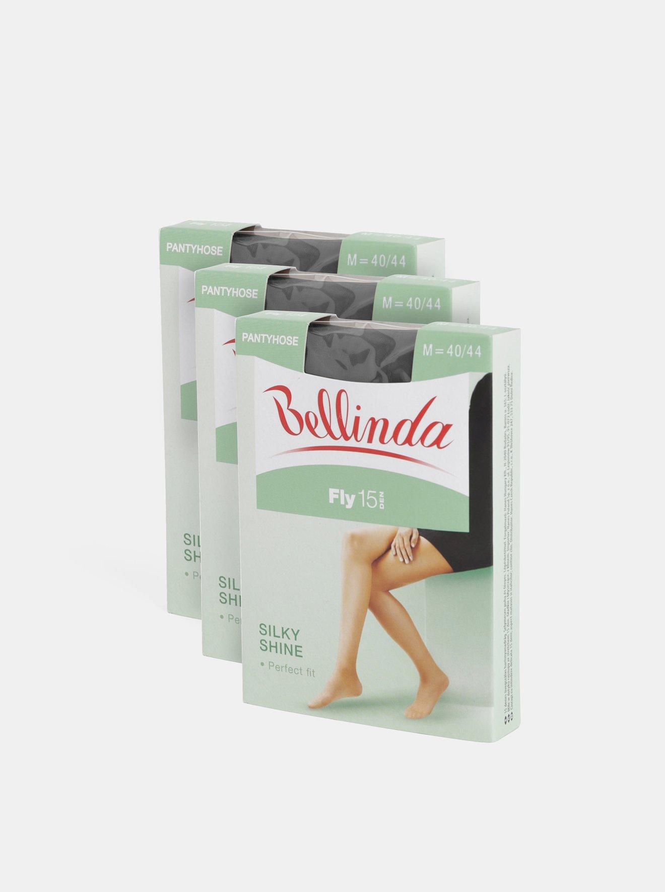Sada tří černých punčochových kalhot Bellinda Fly 15 DEN