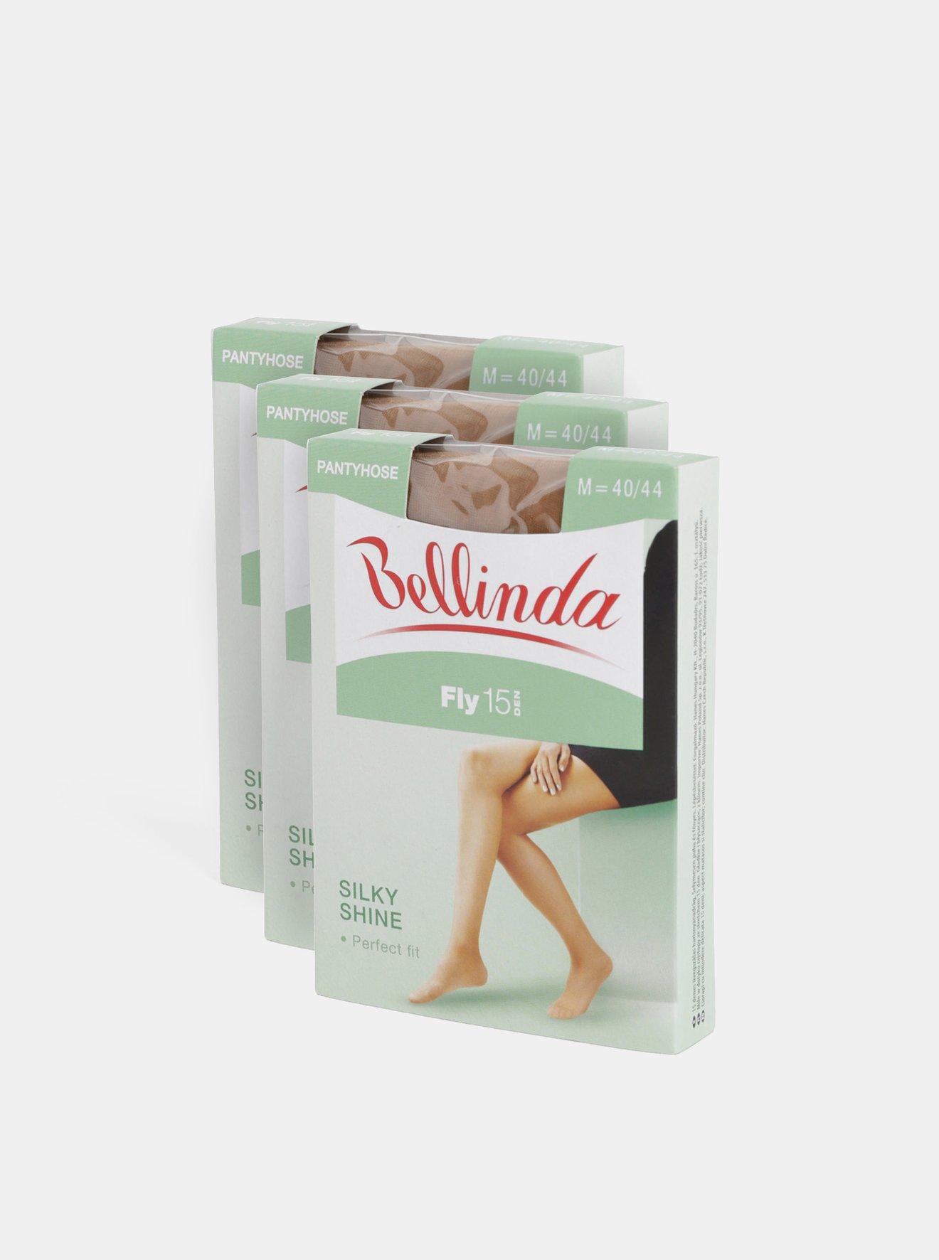 Sada tří béžových punčochových kalhot Bellinda Fly 15 DEN