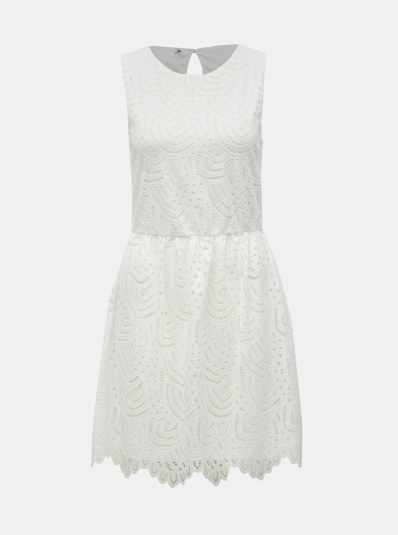 efed7c497bc2 Bílé krajkové šaty ONLY Edith - SLEVA!