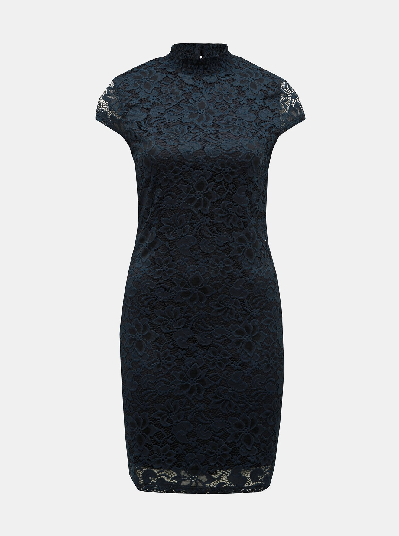 1569adf30212 Tmavě modré krajkové šaty ONLY Alba - SLEVA!