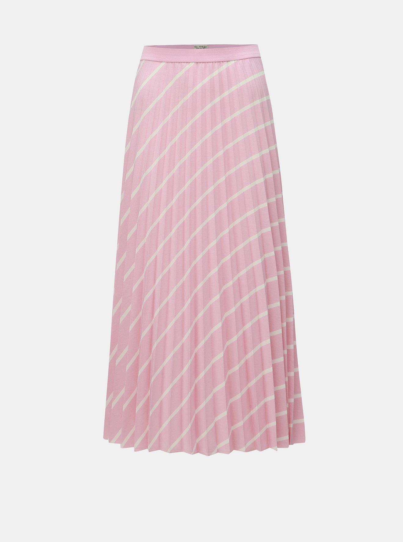 Růžová plisovaná sukně Miss Selfridge