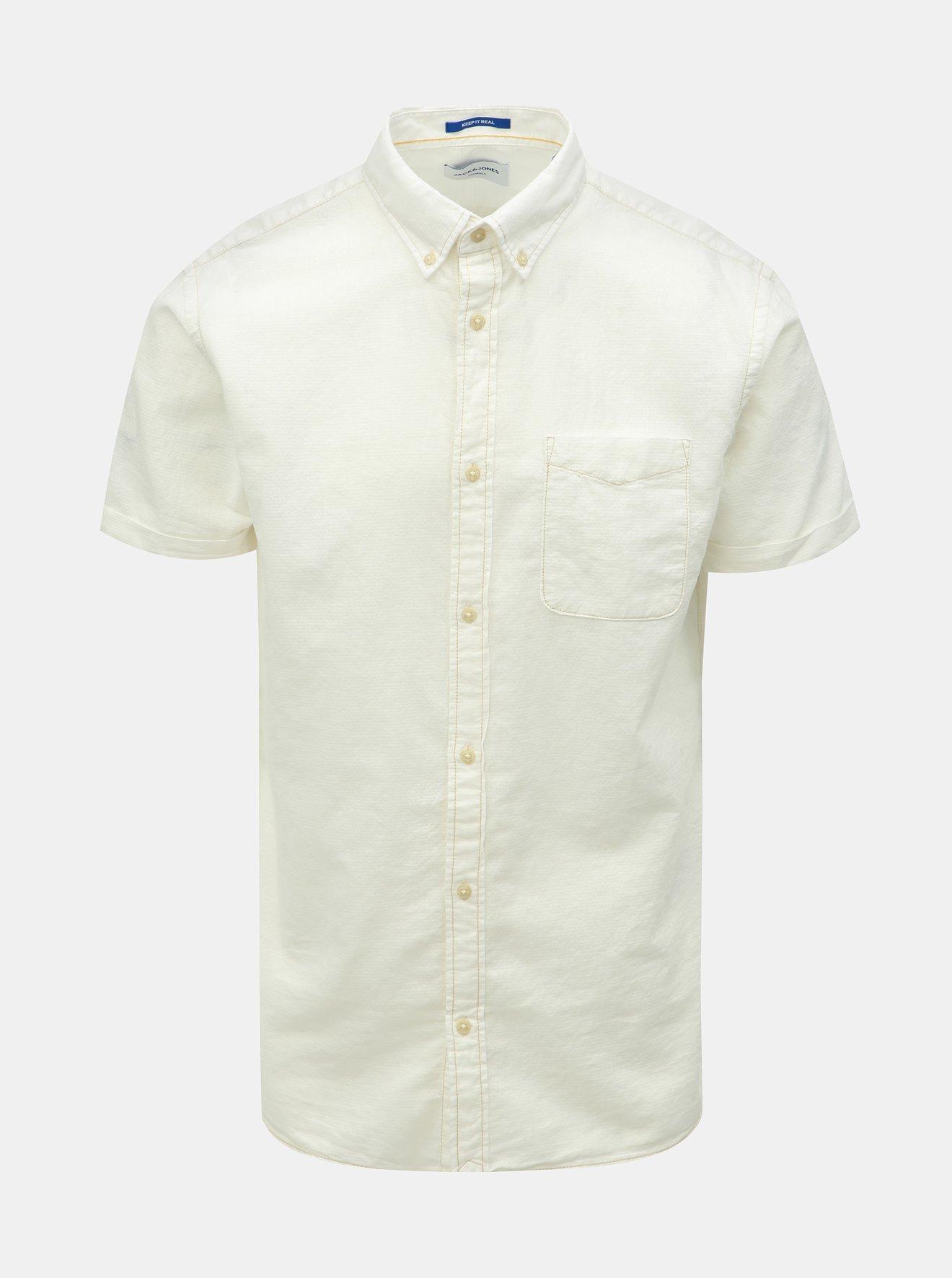 Krémová košile Jack & Jones Anthony