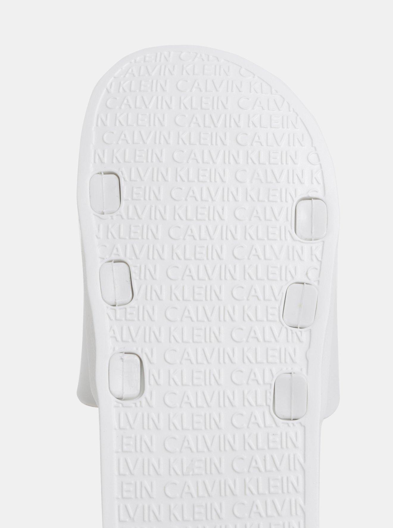 Bílé pánské pantofle Calvin Klein Underwear