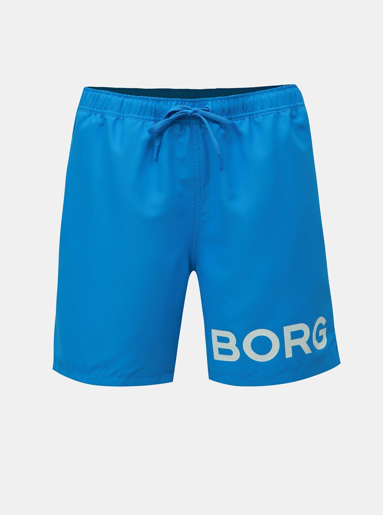 Modré plavky s potiskem Björn Borg Sheldon