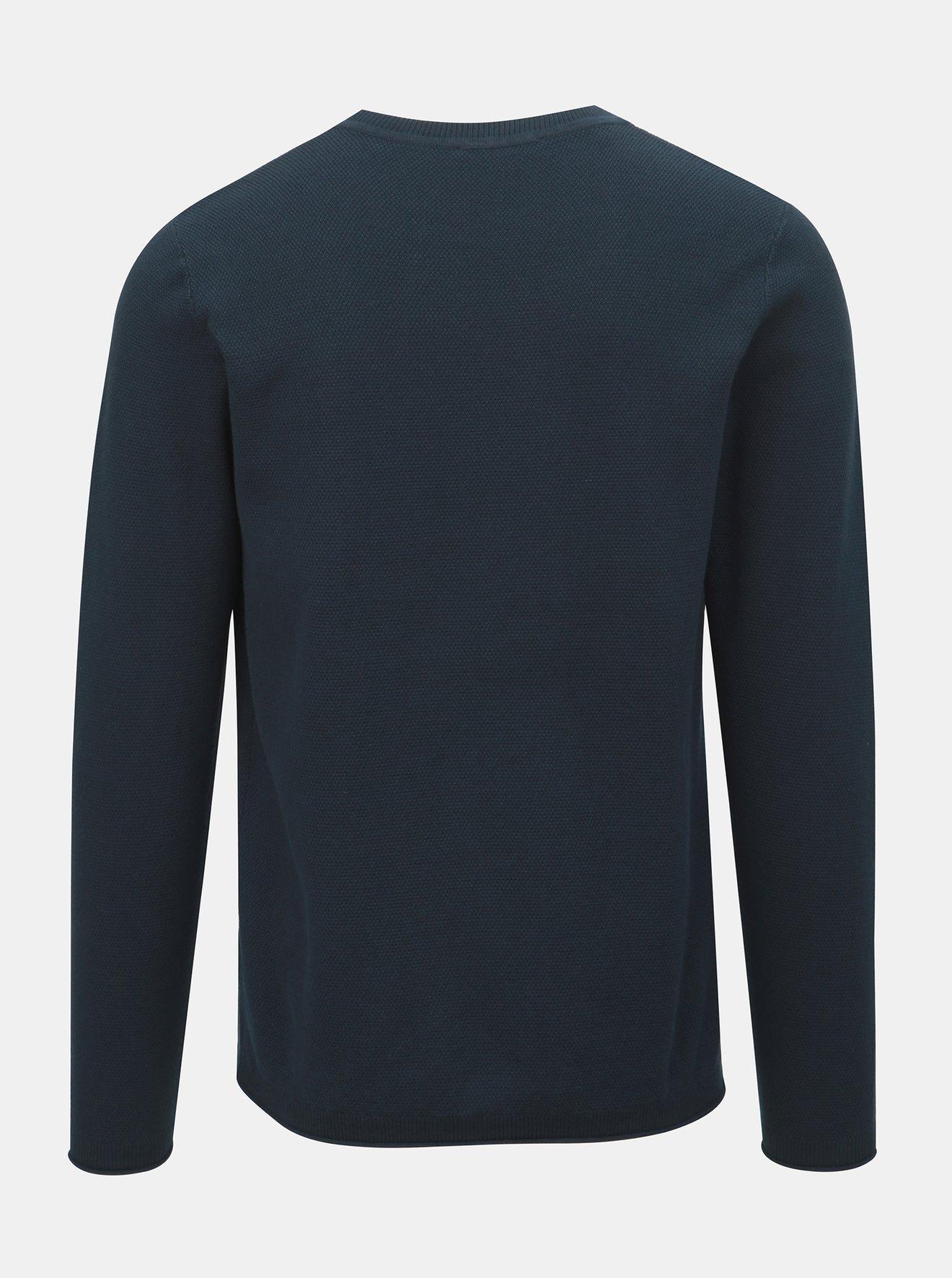 Tmavě modrý svetr Selected Homme Stoke