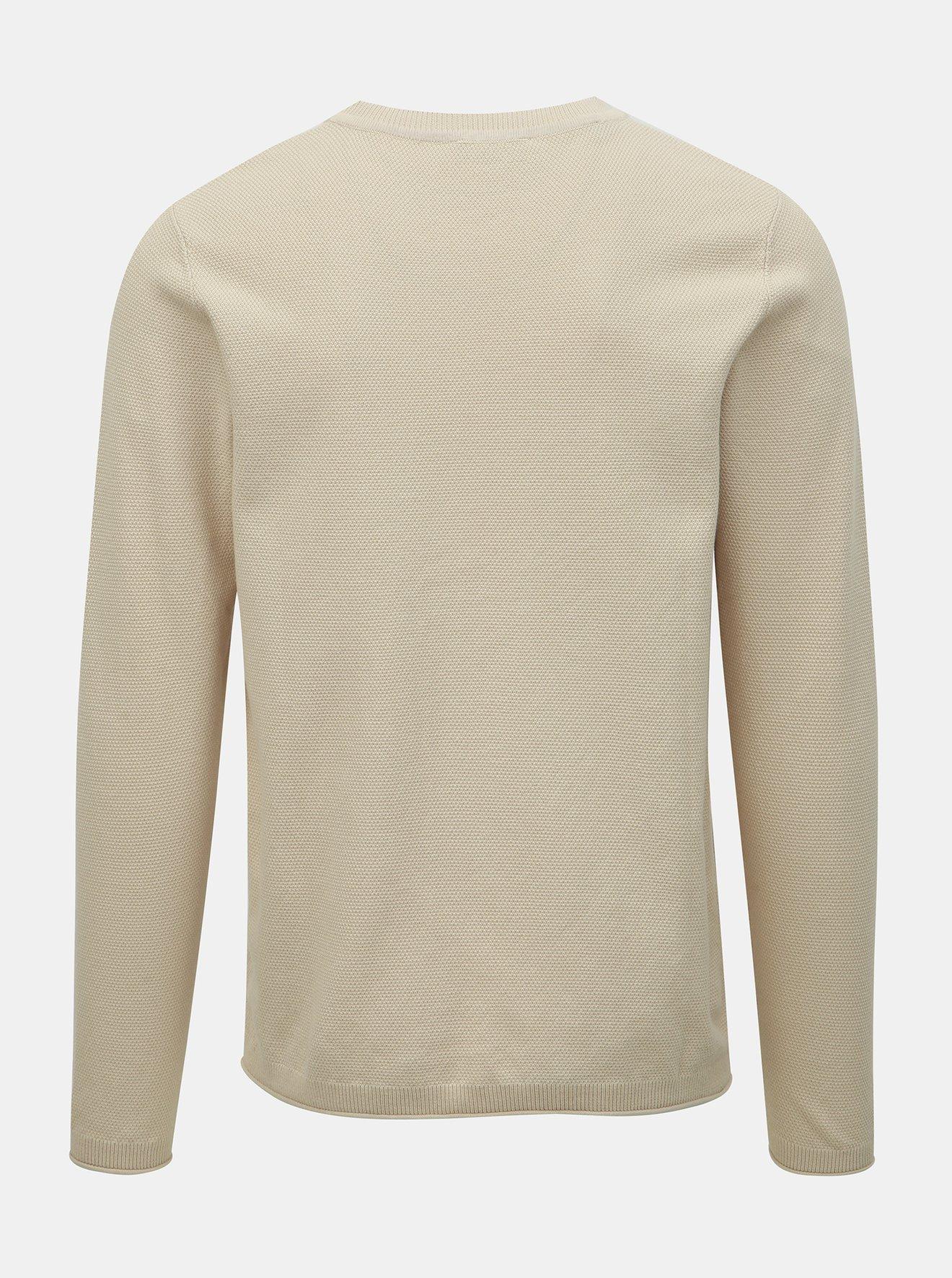 Béžový svetr Selected Homme Stoke