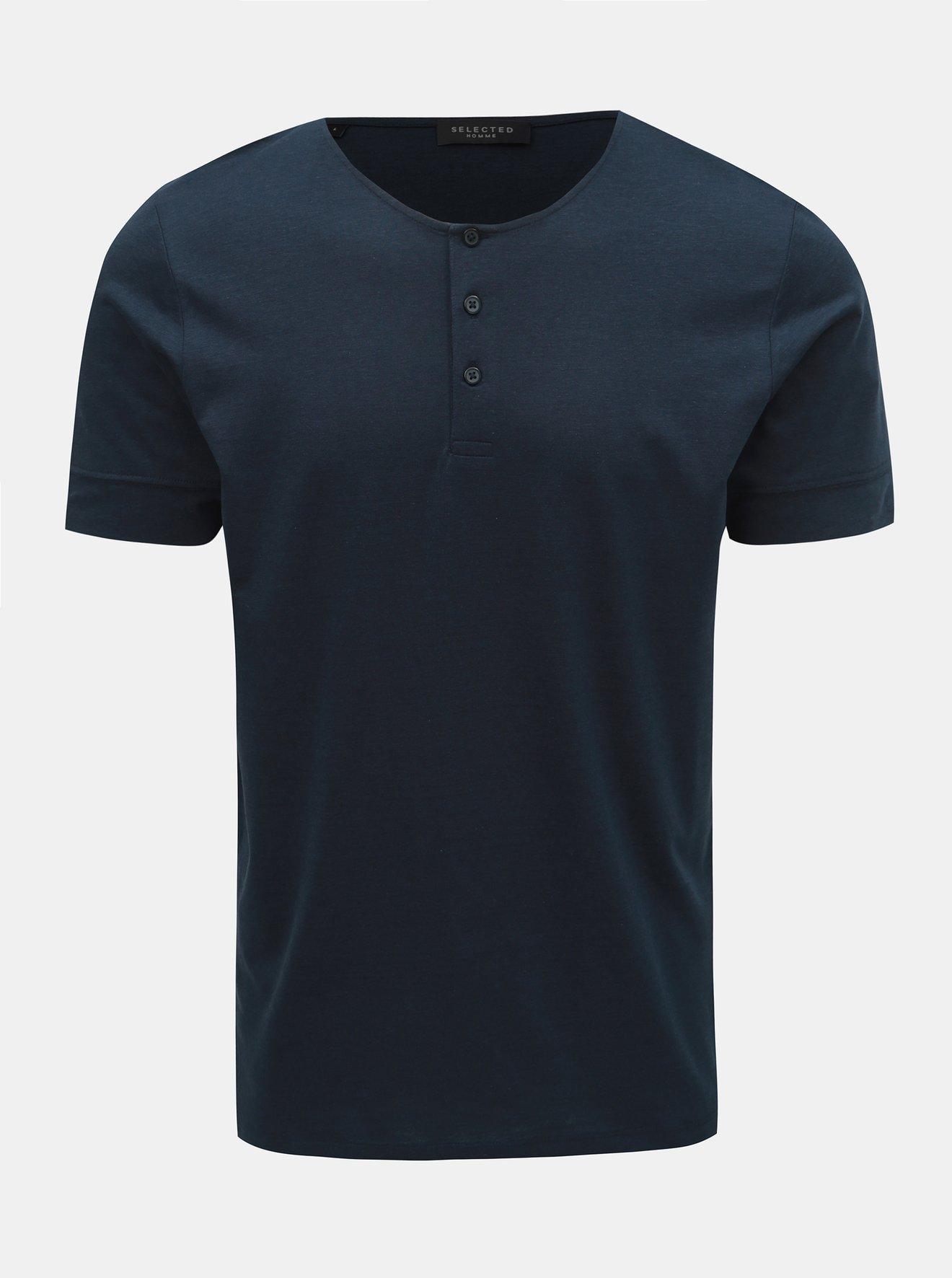 Tmavě modré tričko Selected Homme Amos
