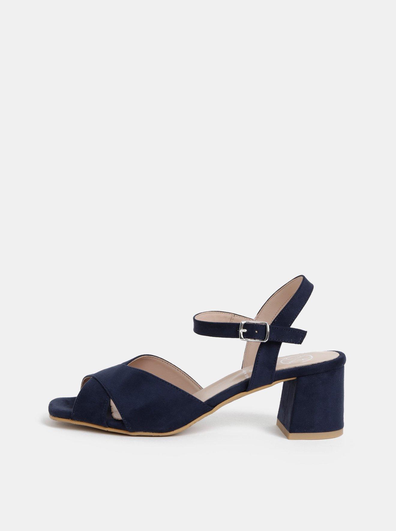 Tmavě modré sandálky v semišové úpravě OJJU